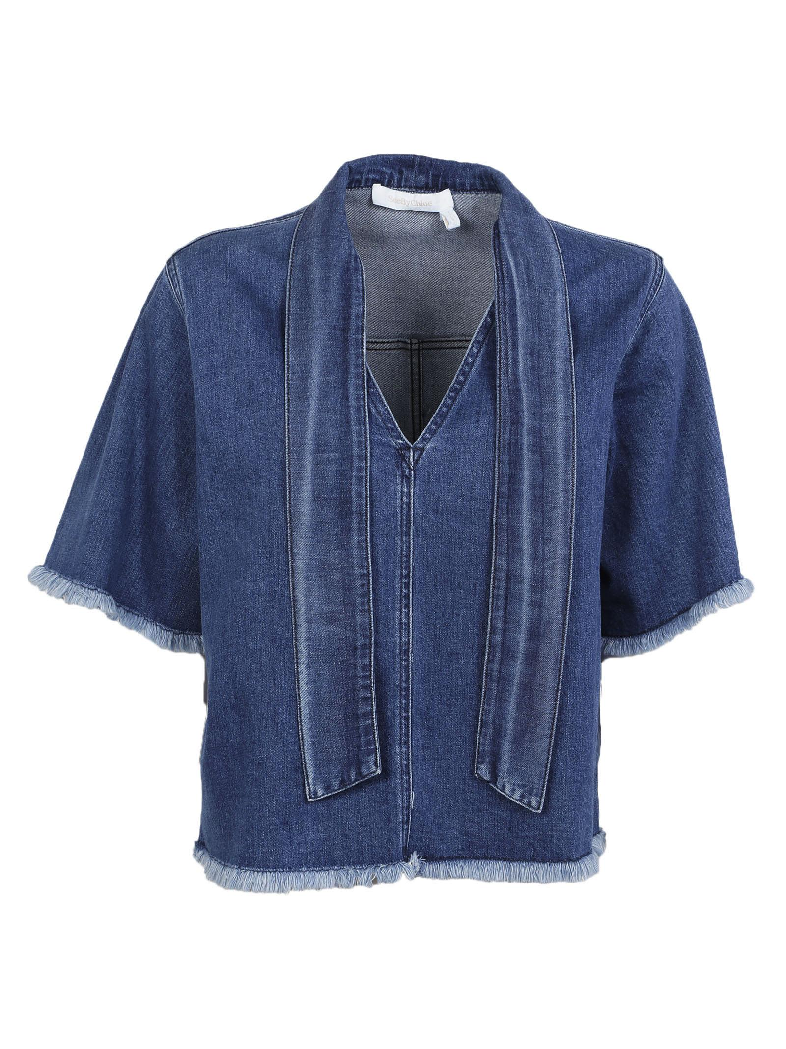 See By Chlo Denim Blouse