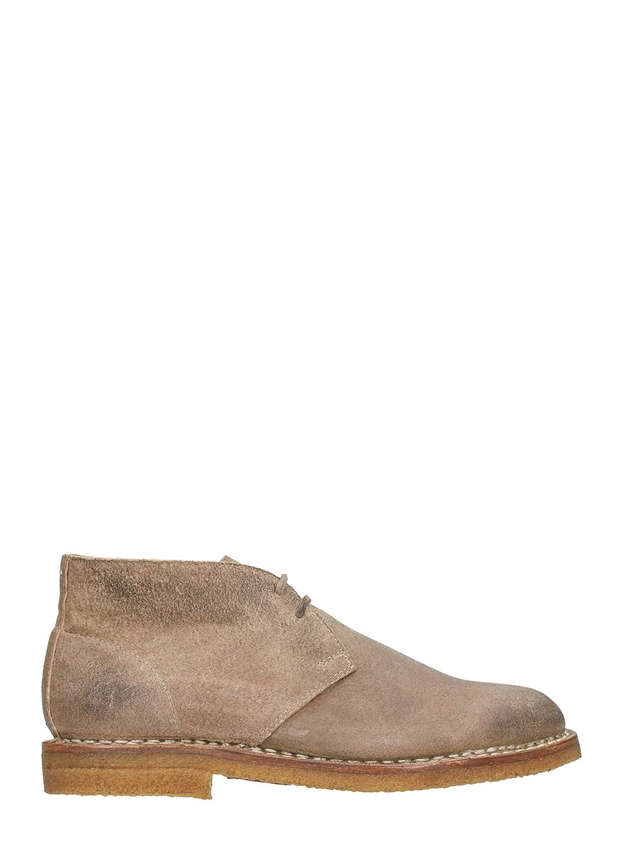 Maison Margiela Beige Nabuk Lace Up