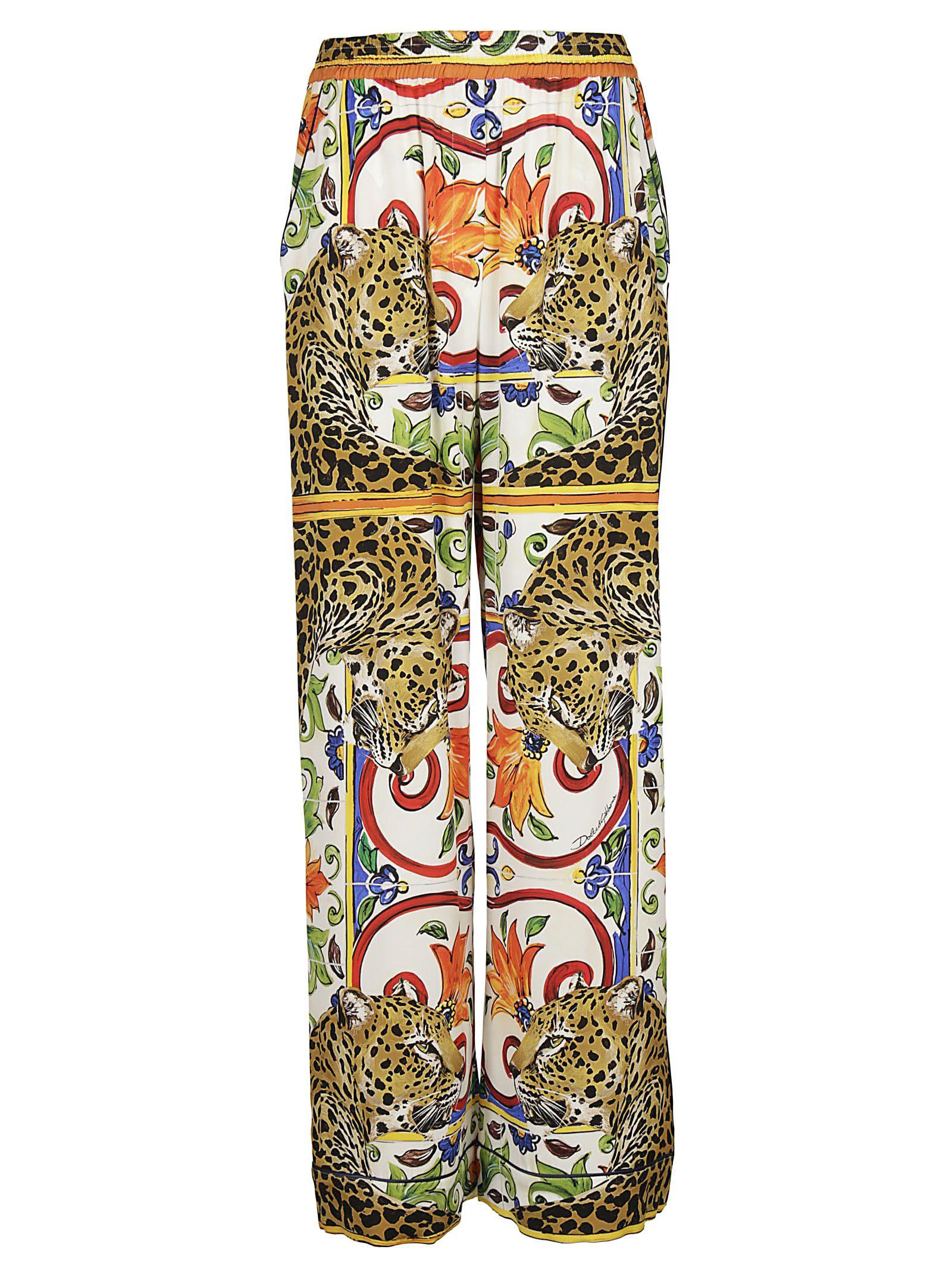 Dolce & Gabbana Leopard Print Palazzo Trousers