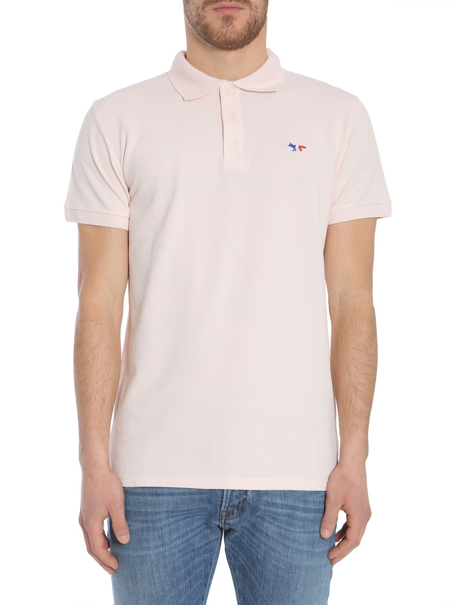 Polo With Three Colored Fox Patch