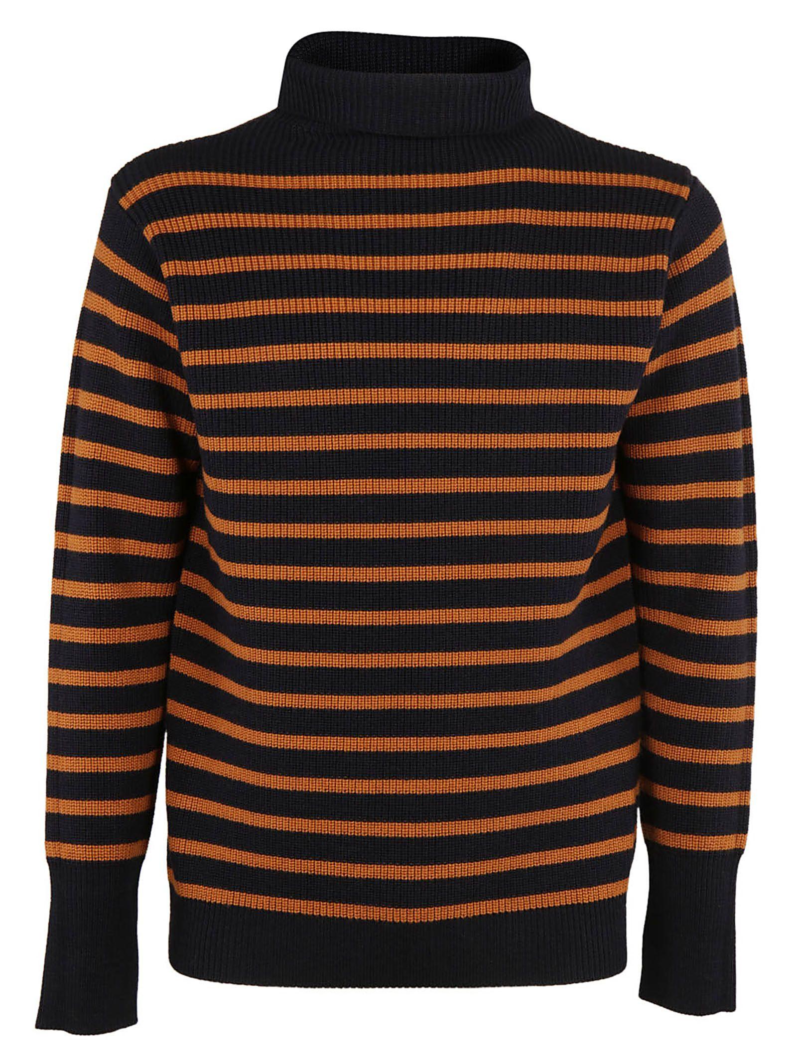 Barena - Barena Striped Sweater - Navy/Orange, Men's Sweaters ...