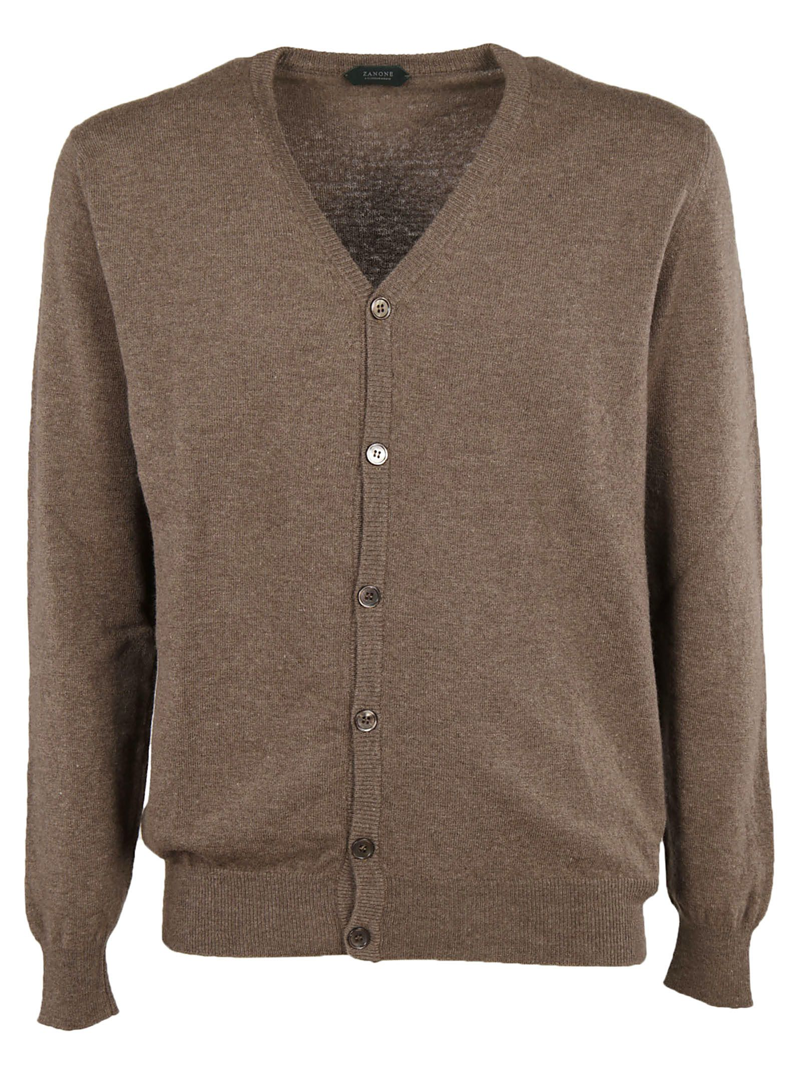 Zanone - Zanone V-neck Cardigan - Brown, Men's Cardigans | Italist