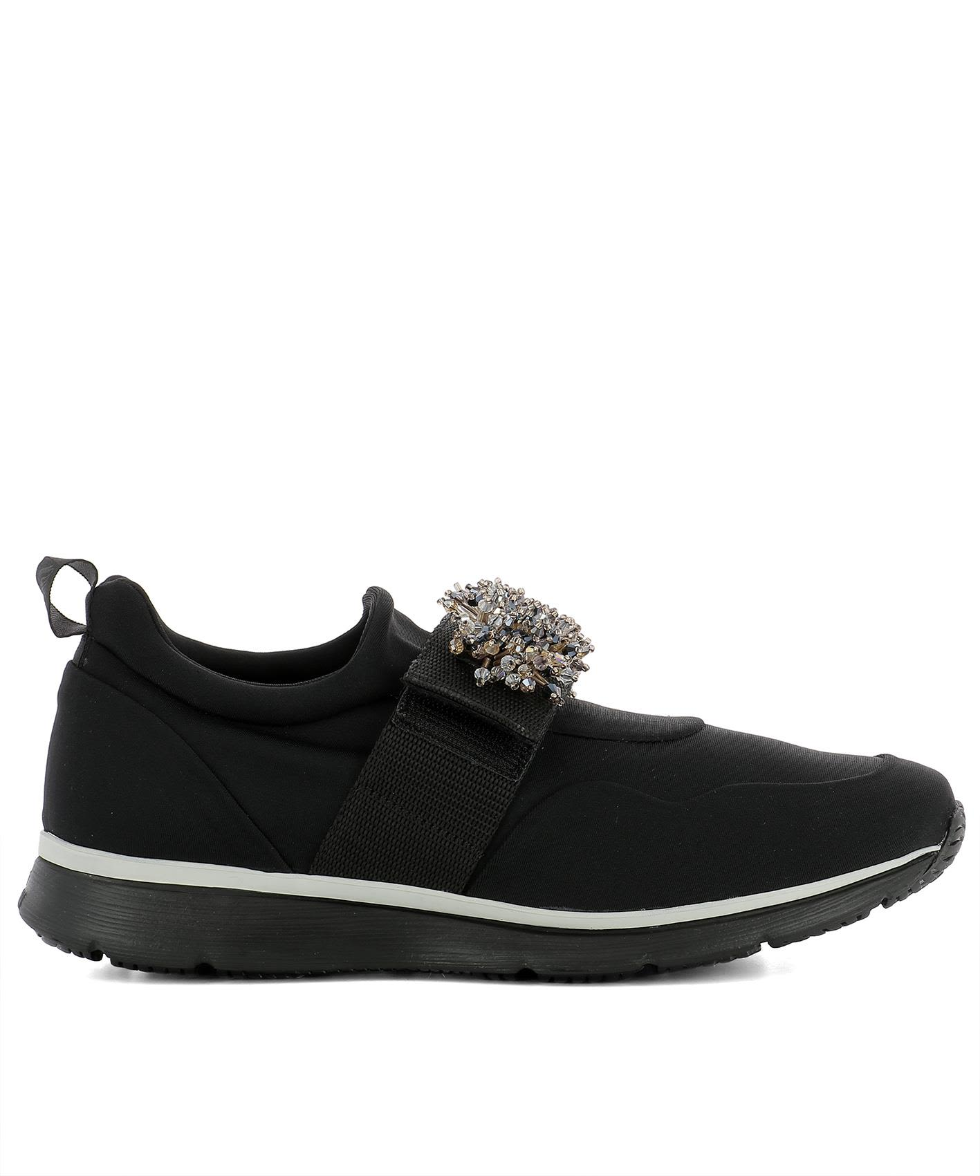 Black Fabric Sneakers