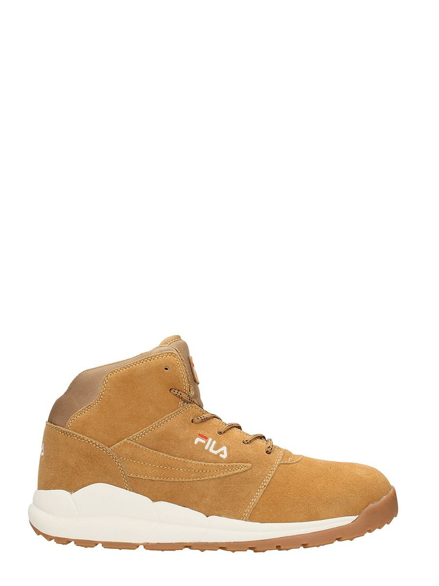 Fila Boulder Mid Beige Suede Sneakers