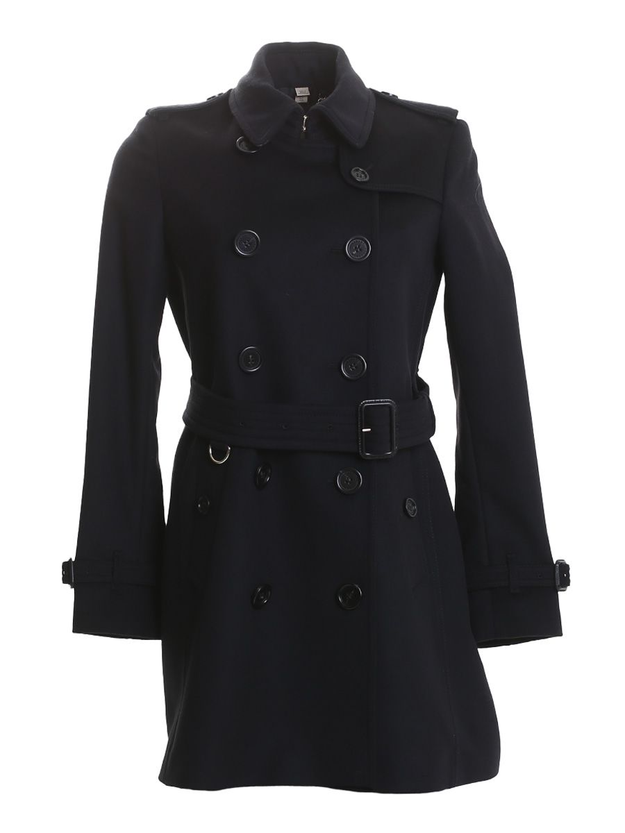 Black Wool And Cashmere Kensington Coat