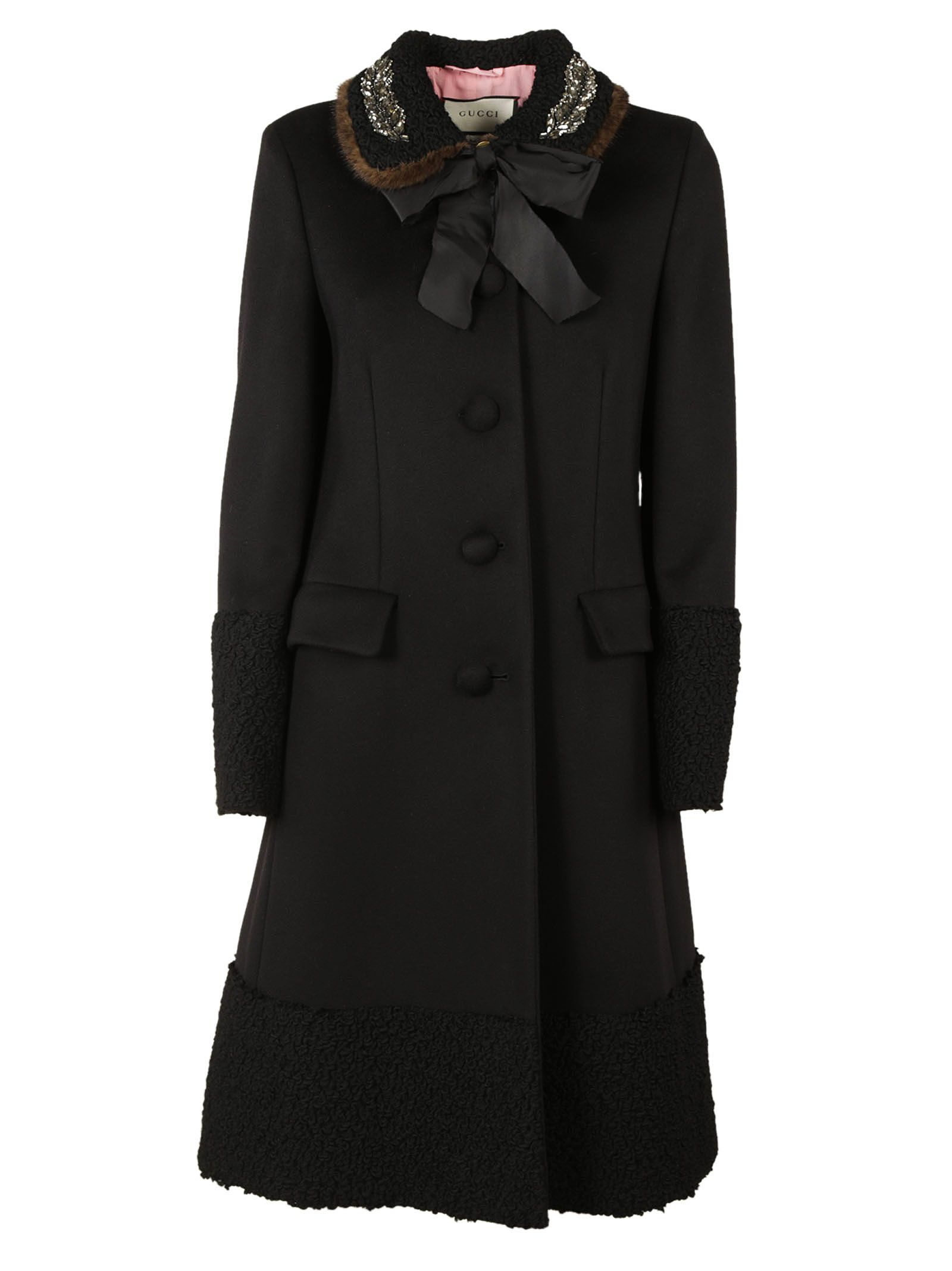 Gucci Embellished Collar Coat