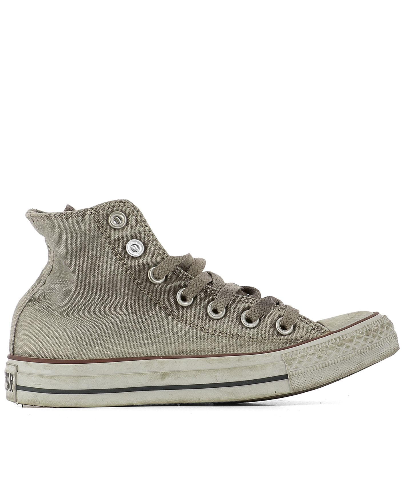 converse female brown fabric sneakers