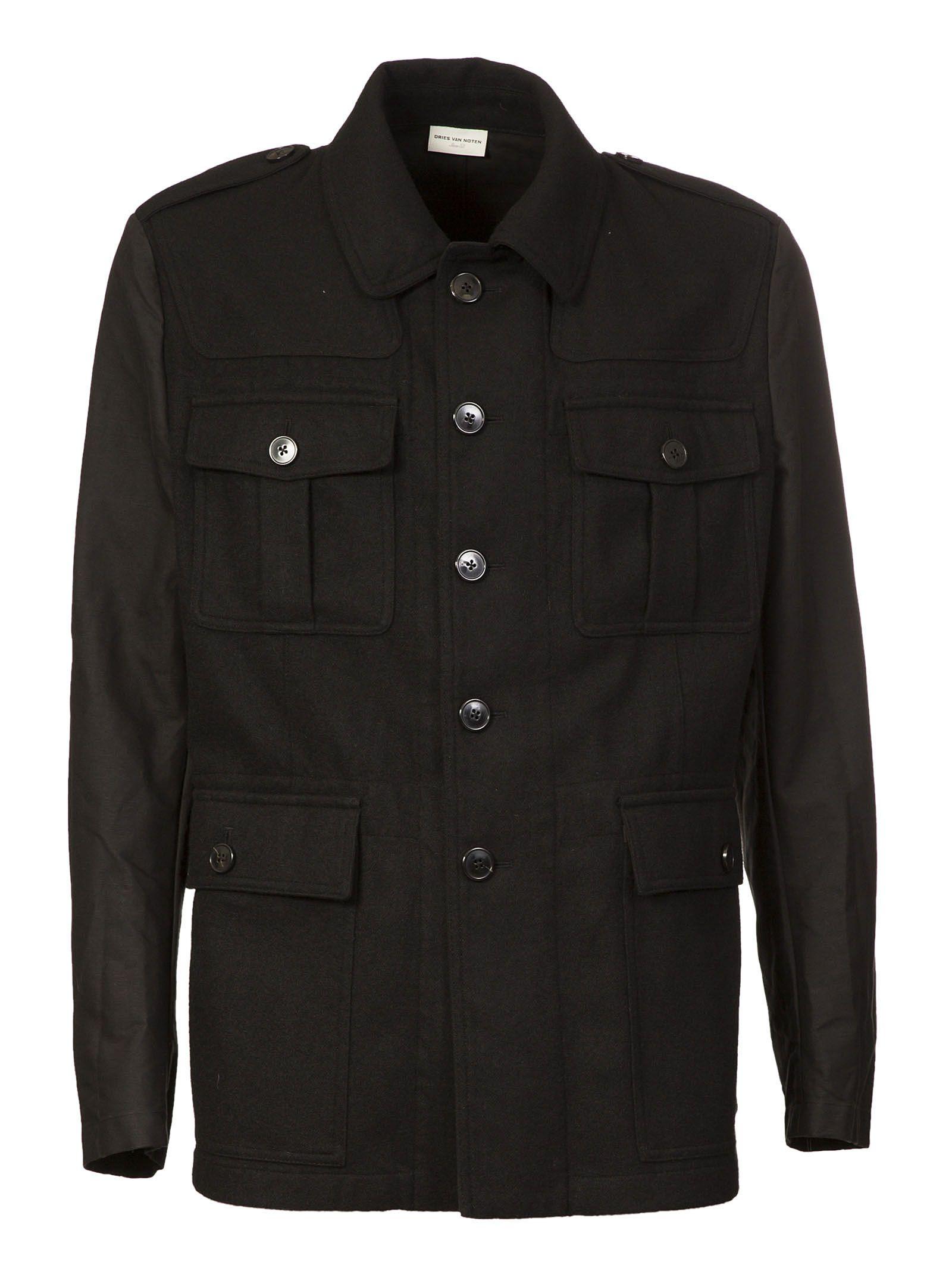 Dries Van Noten Patched Detail Jacket