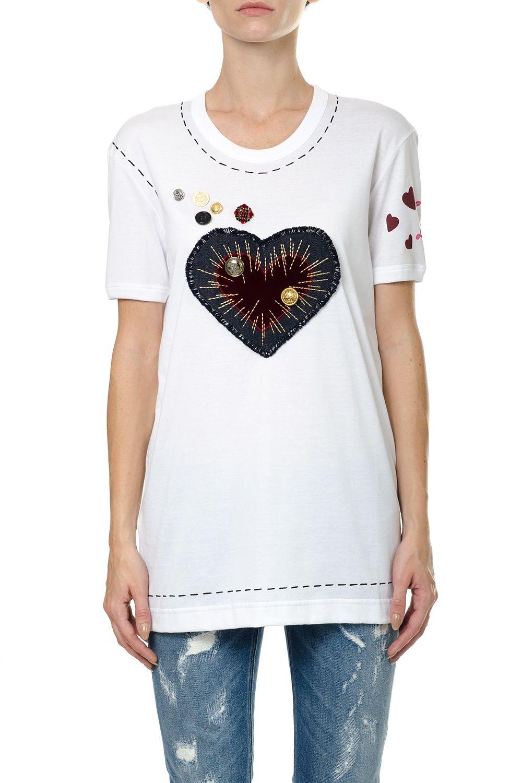 Dolce gabbana dolce gabbana cotton t shirt with for Dolce gabbana t shirt women