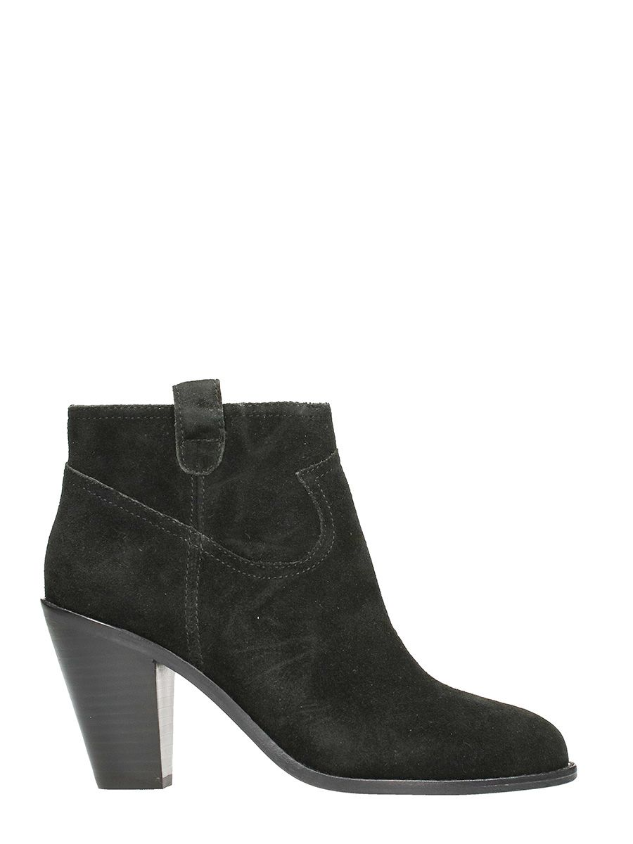 Ash Ivana Ankle Boots In Black Suede