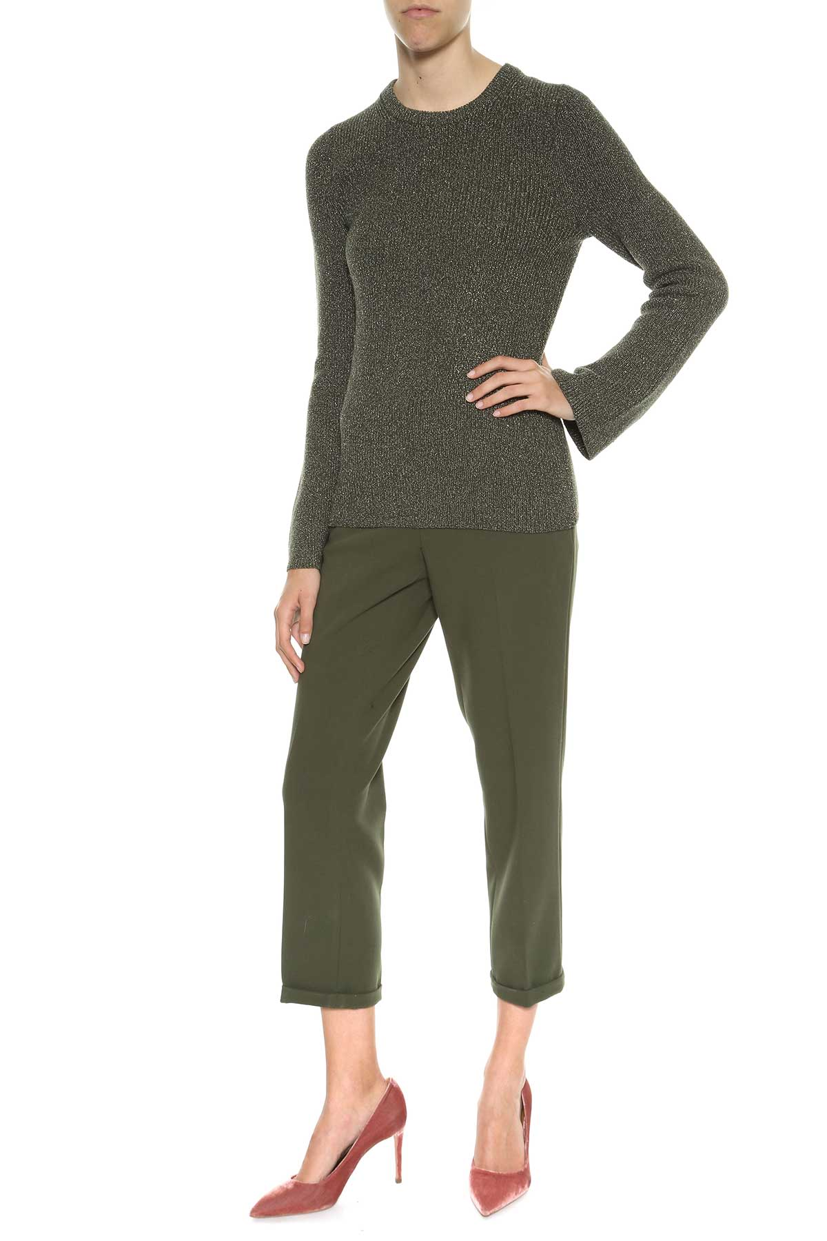 michael michael kors michael michael kors lurex knitted sweater ivy women 39 s sweaters italist. Black Bedroom Furniture Sets. Home Design Ideas