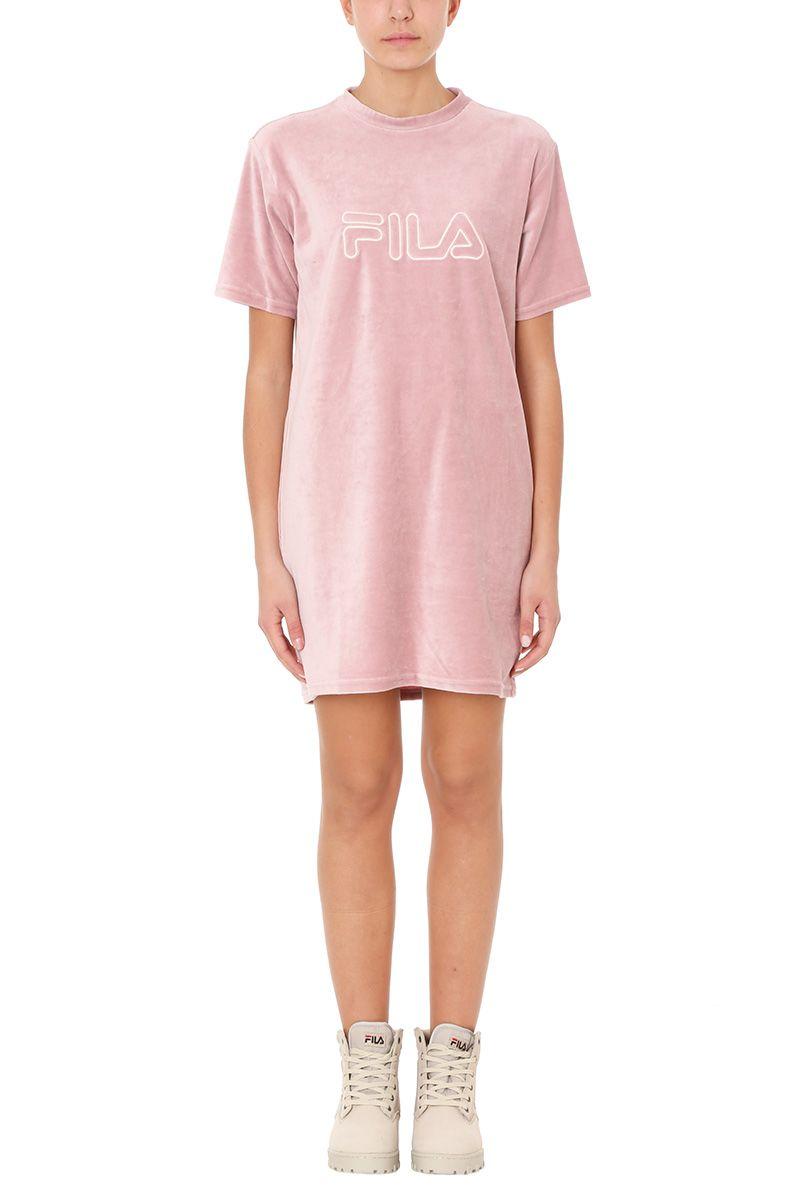 Fila Pink Logo Velvet Dress