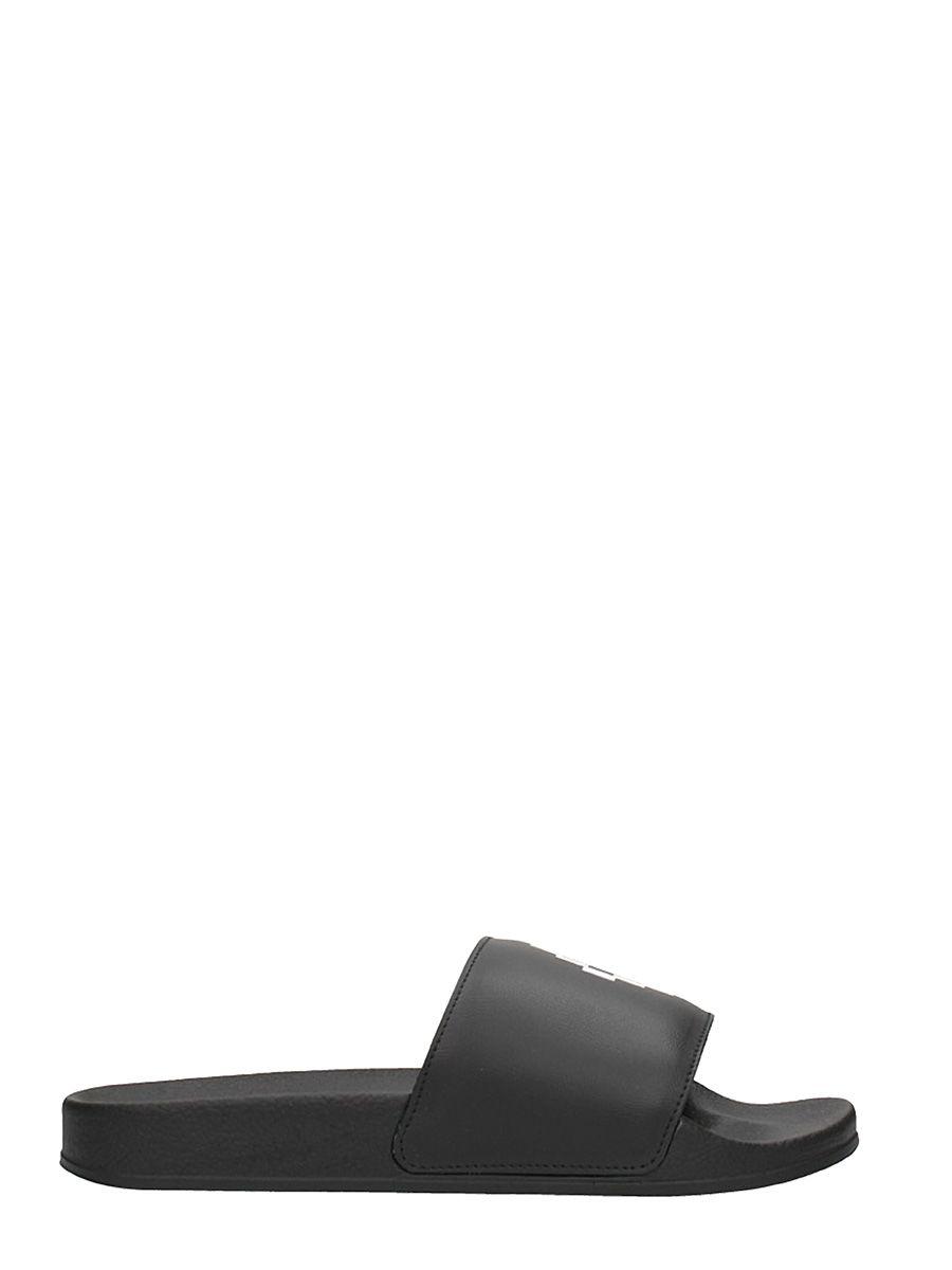Marcelo Burlon Flats Logo Rubber Slides