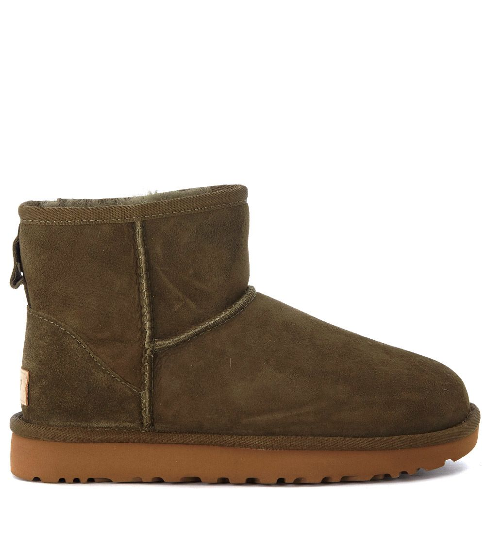 Ugg Classic Mini Reverted Sheepskin And Suede Ankle Boots
