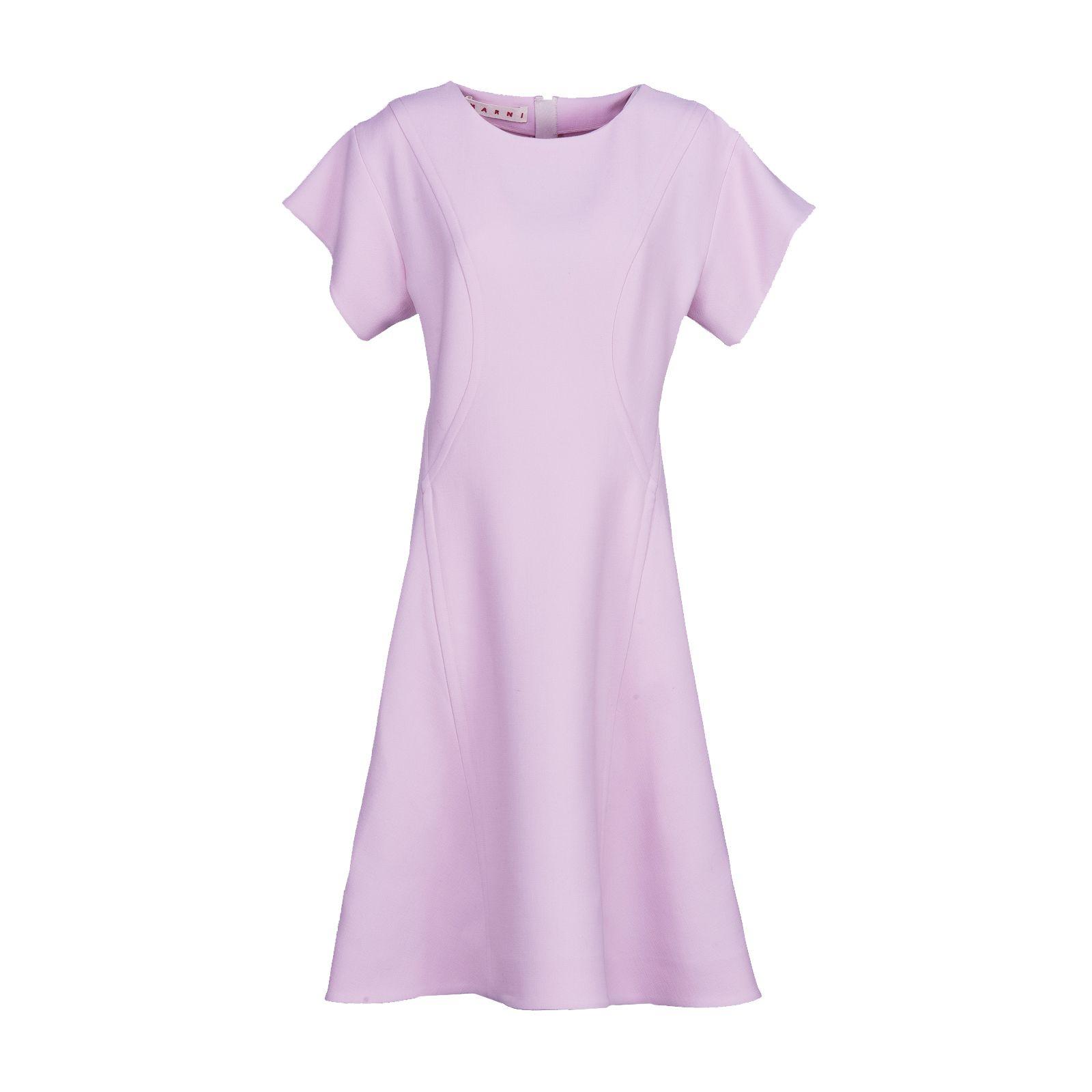 short-sleeved flared dress - Pink & Purple Marni