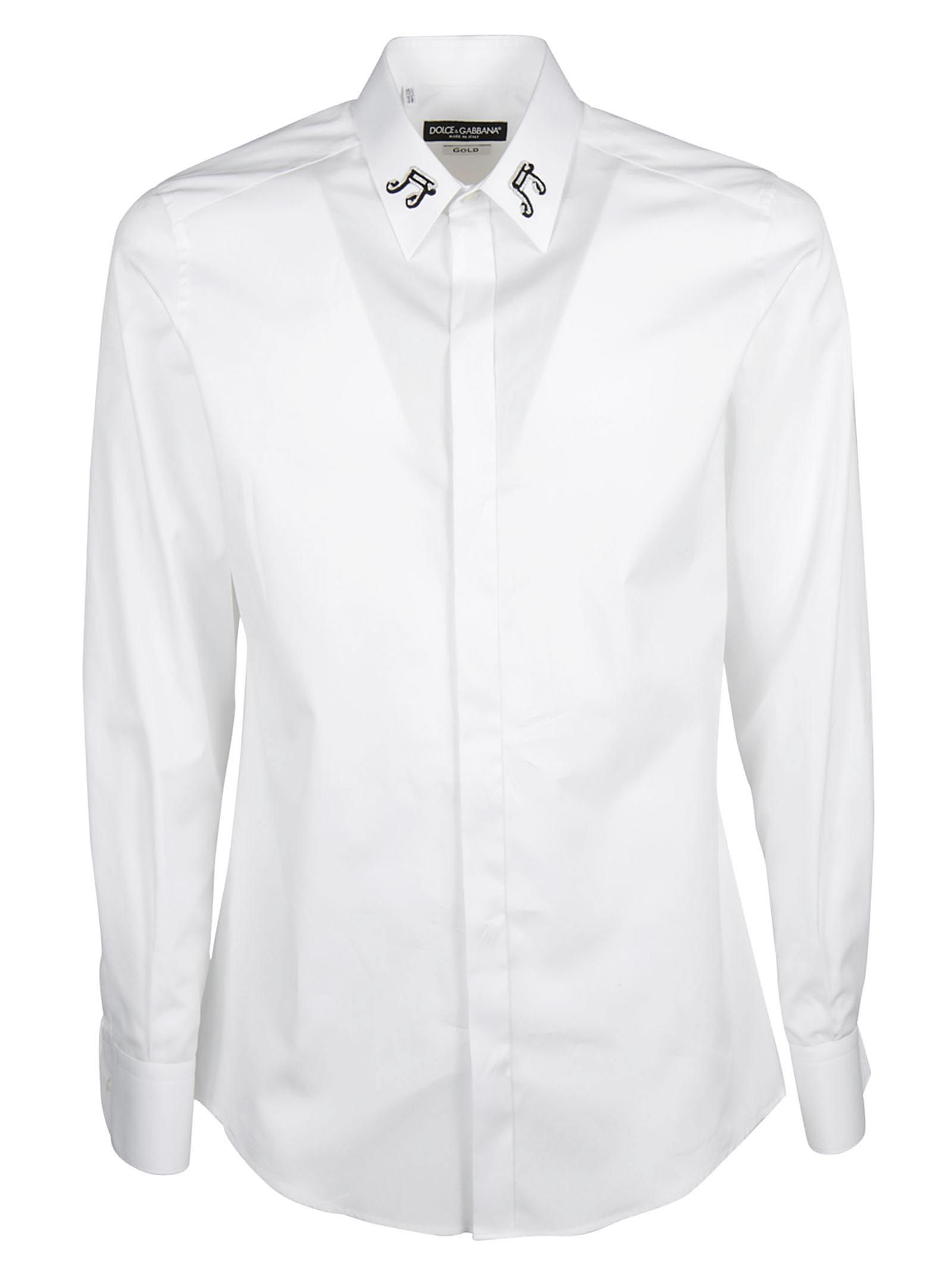 Dolce & Gabbana Note Embroidered Shirt