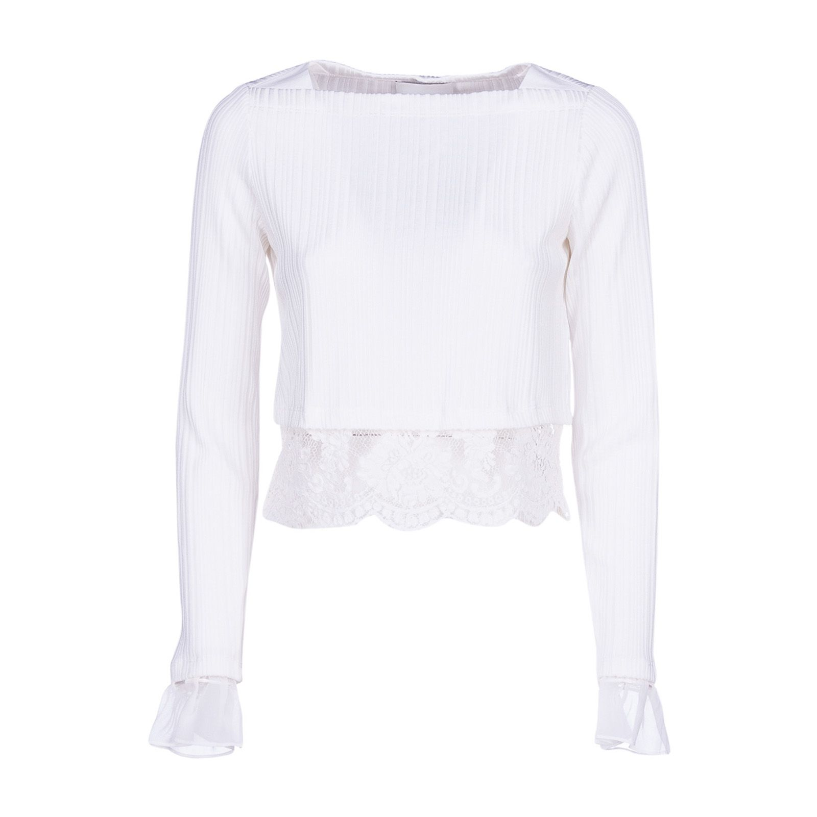 3.1 Phillip Lim Lace Embroidered Crop Top