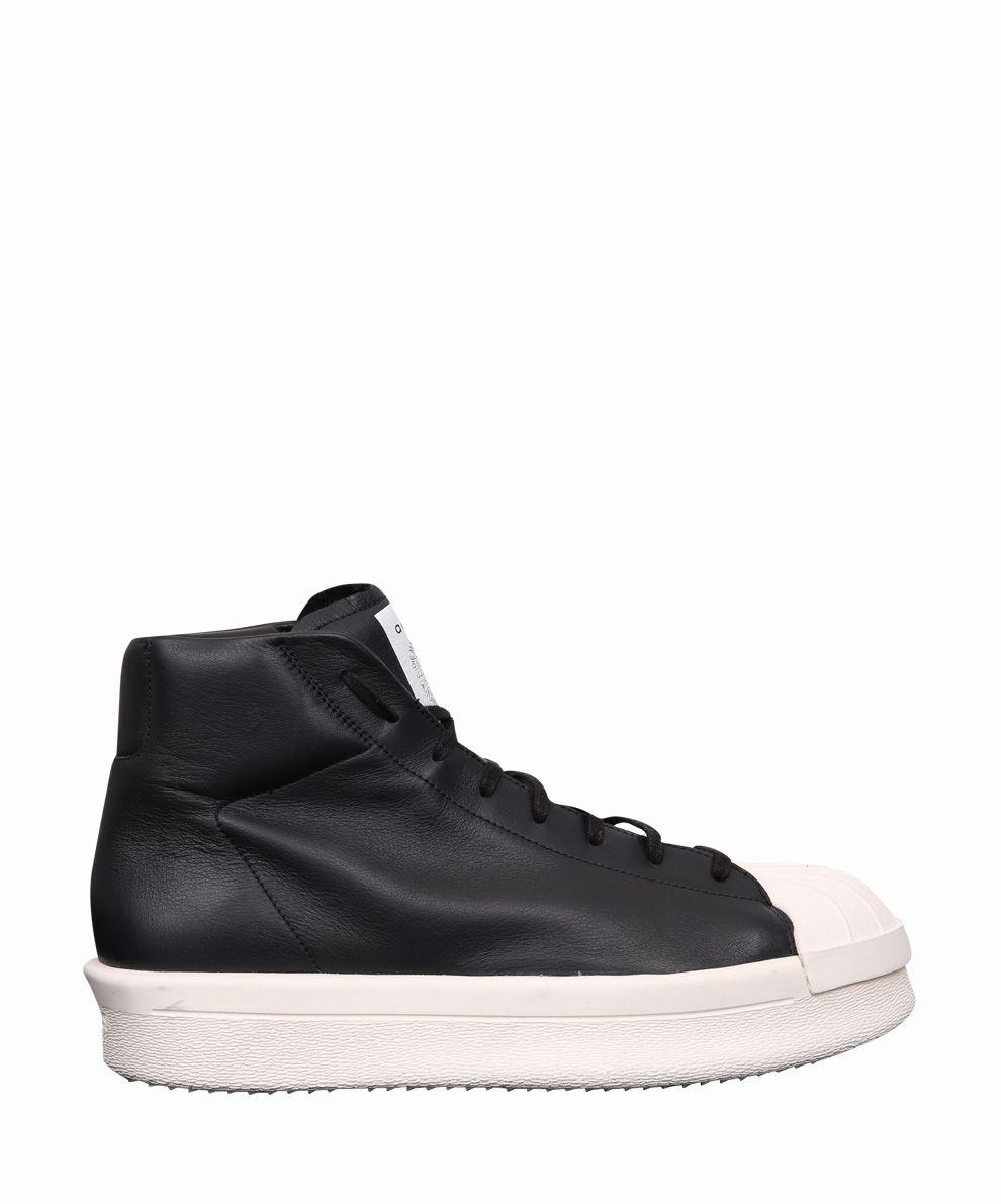 Rick Owens x Adidas Mastodon Leather Sneakers