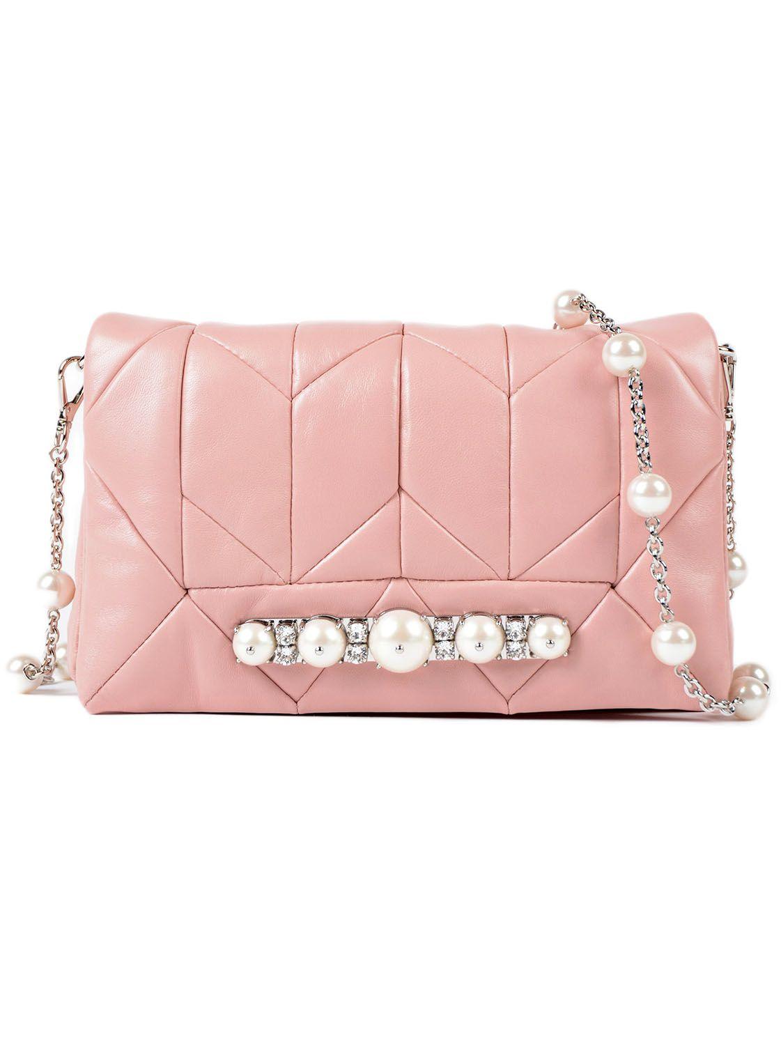 Miu Miu Nappa Patch Pearl Bag W-flap