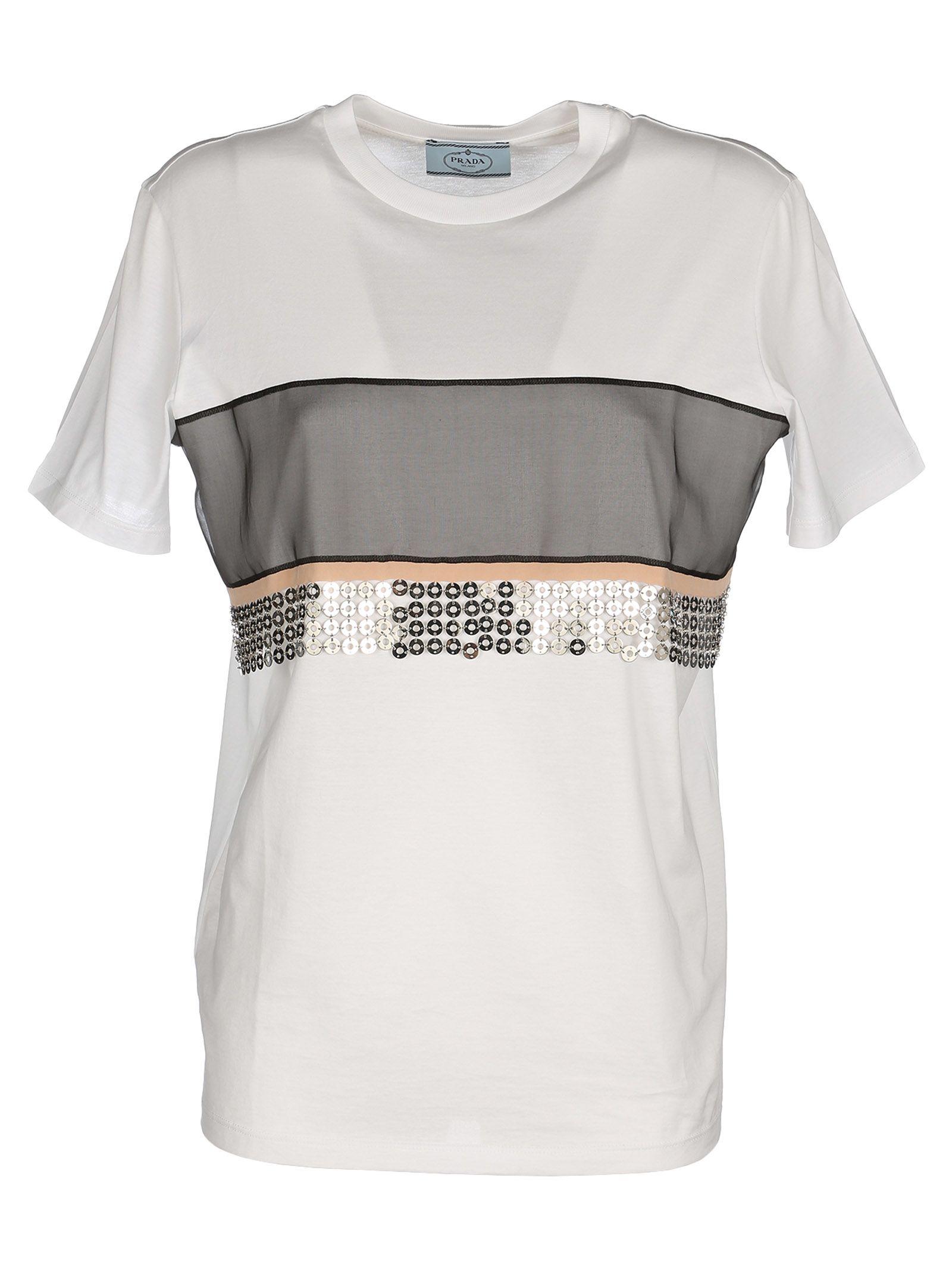 Prada Sequin Panel T-shirt