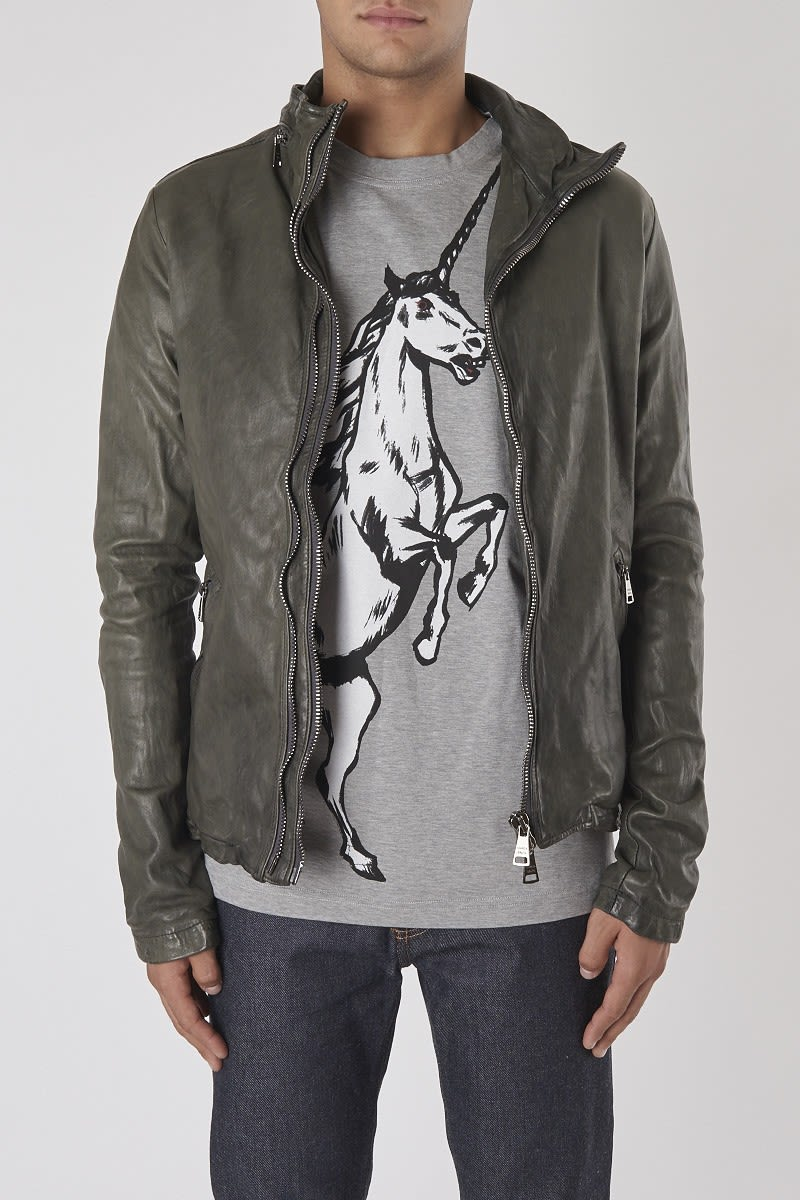 Giorgio Brato Dust Leather Jacket