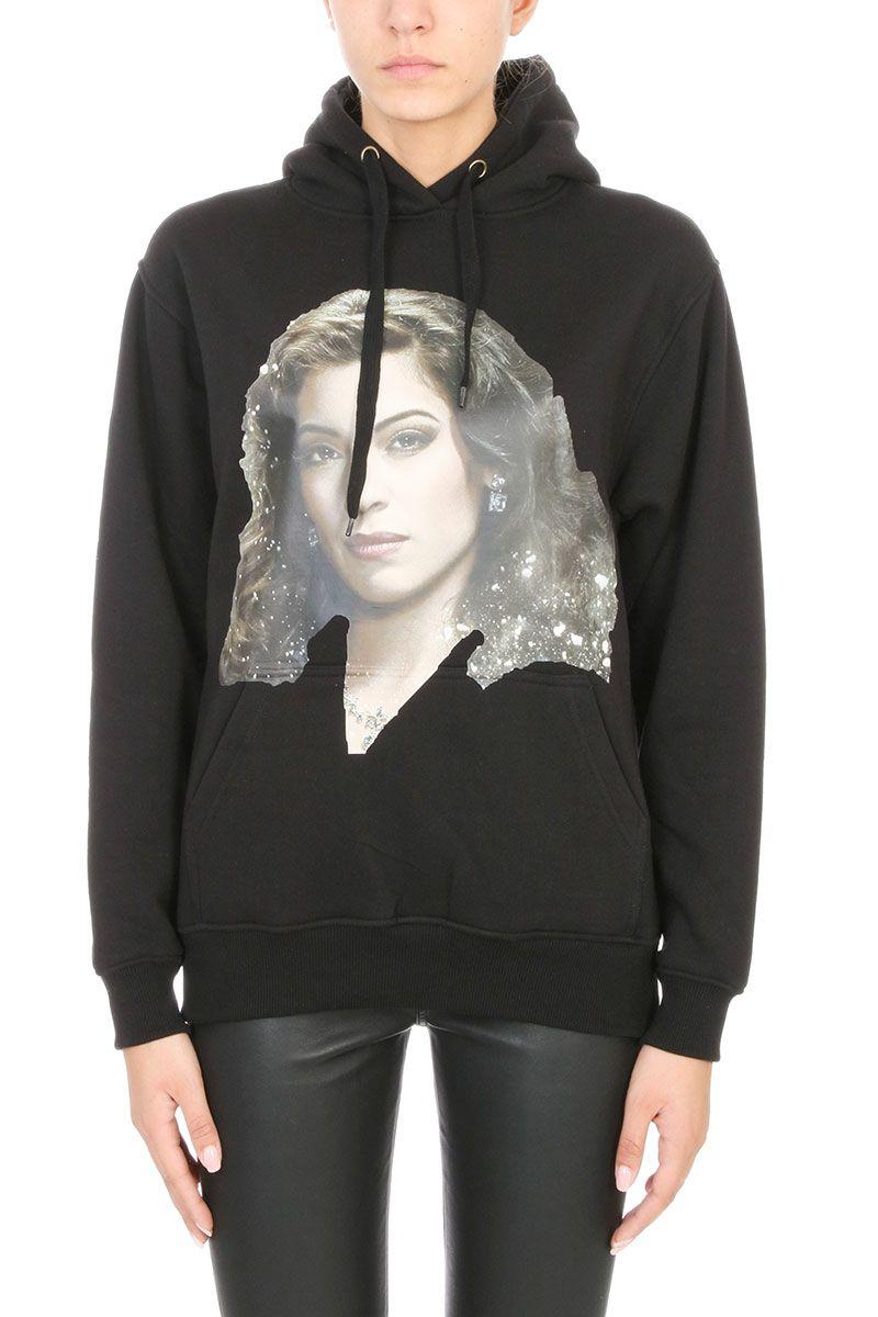 ih nom uh nit - ih nom uh nit Valeria Hooded Sweater - black ...