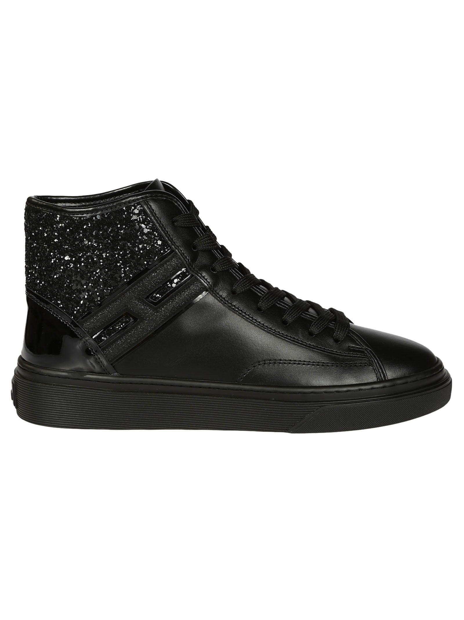 Hogan H342 Glitter Hi-top Sneakers