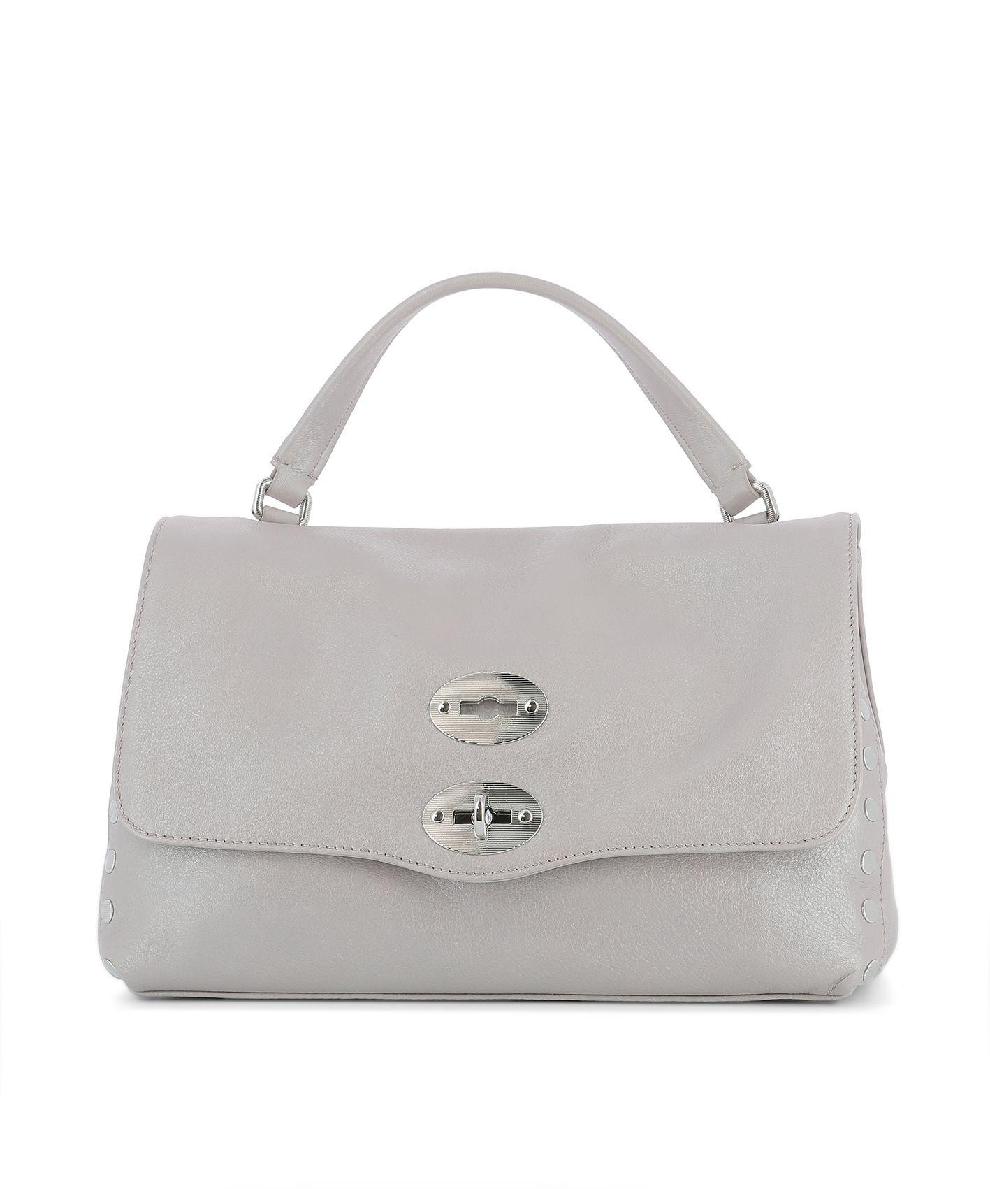 Lilac Leather Handle Bag