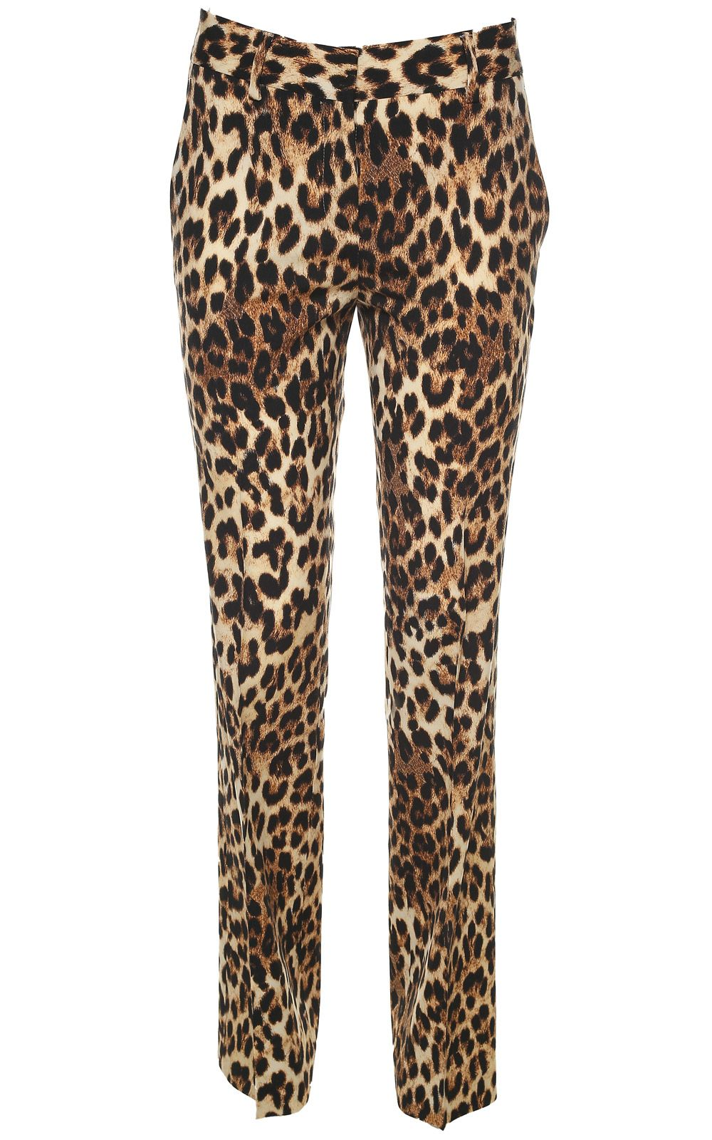Alberto Biani Leopard-print Wide-leg Wool-blend Trousers