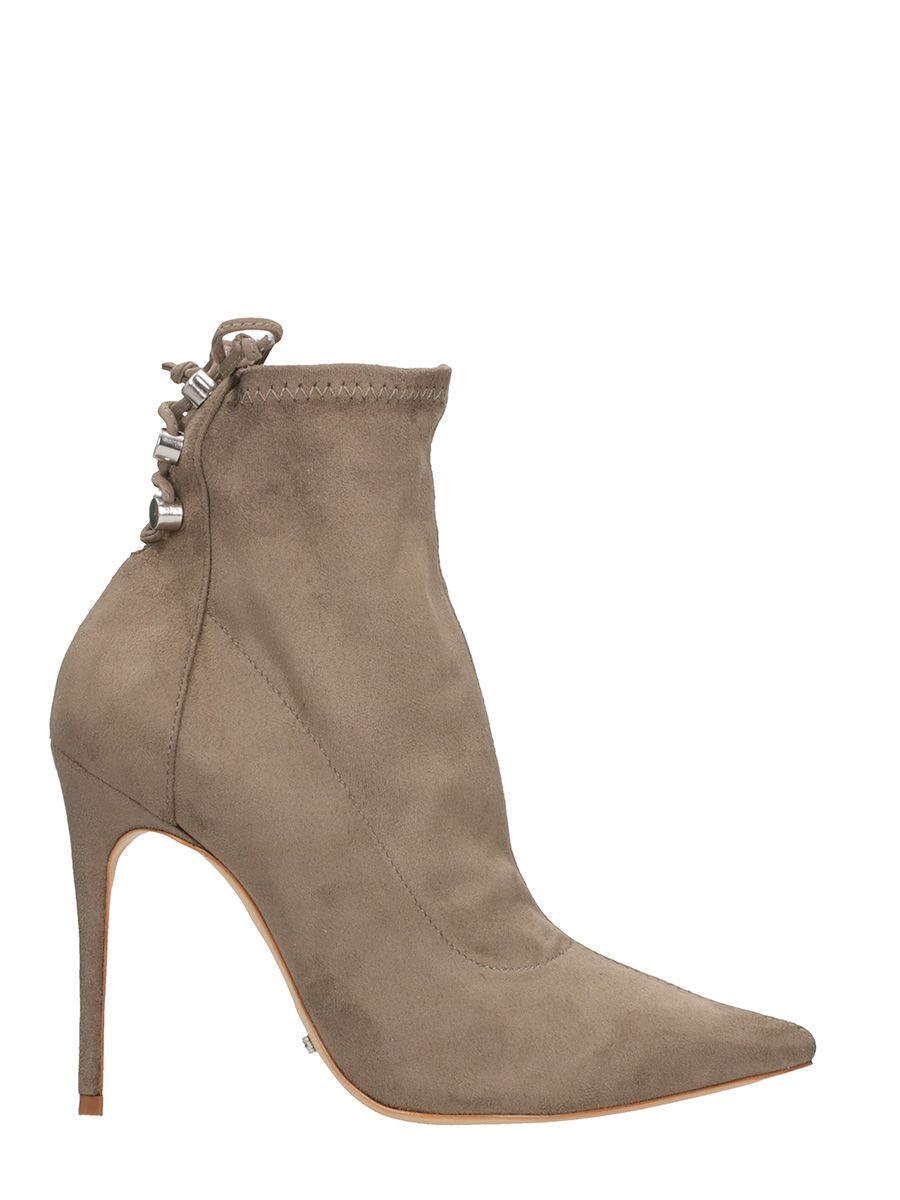 Schutz Beige Suede Leather Ankle Boots