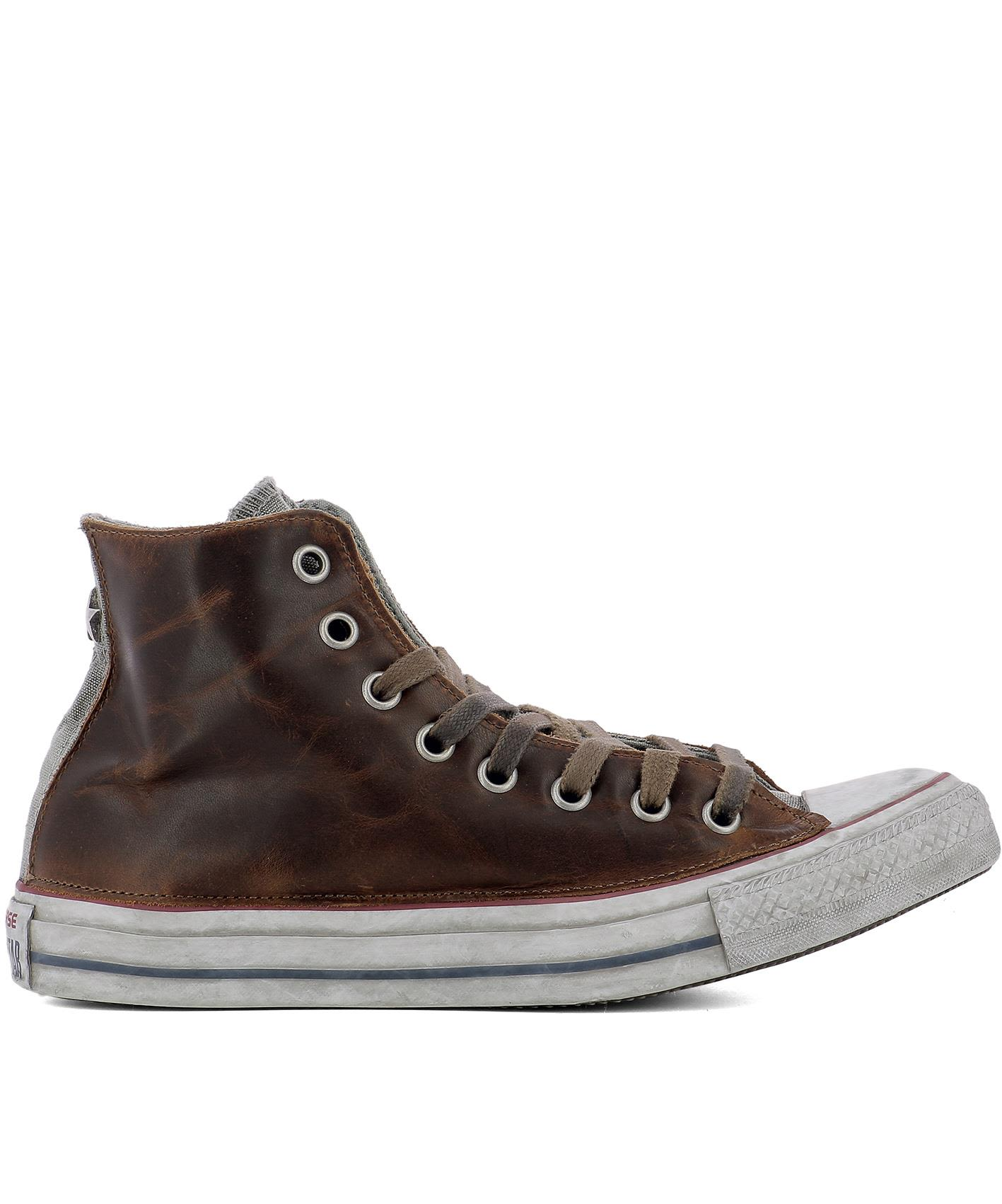 Brown Leather All Star Sneakers
