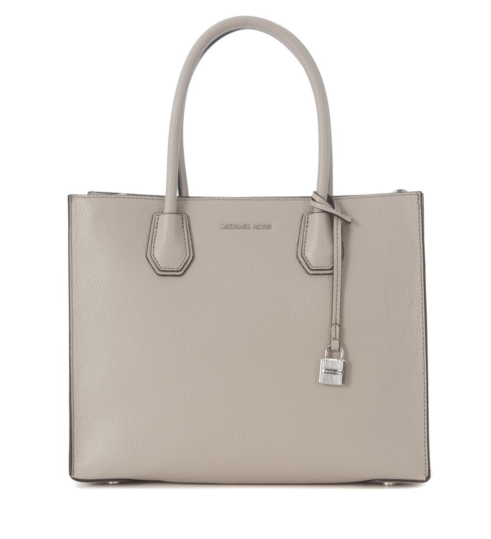 Michael Kors Mercer Grey Leather Tote Bag