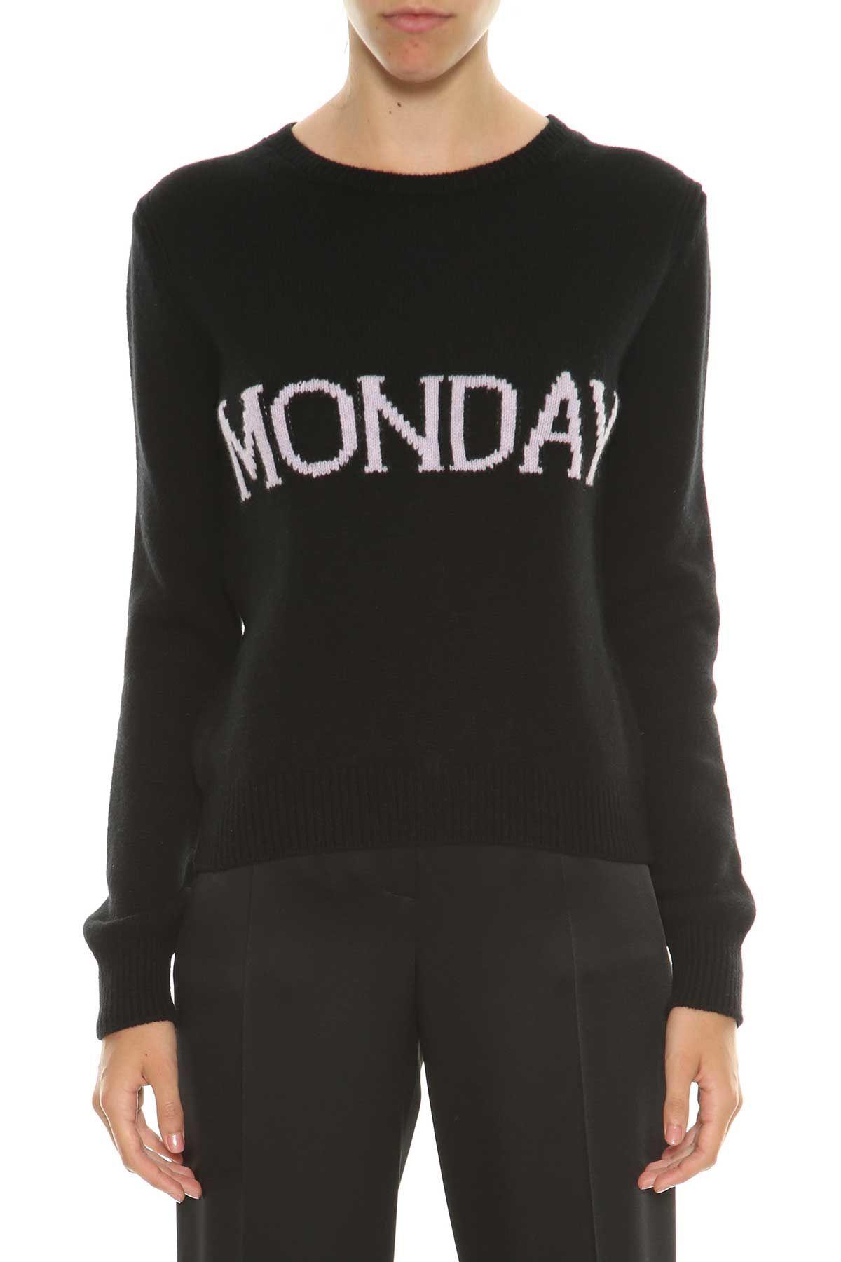 Alberta Ferretti Sweater With monday Writing