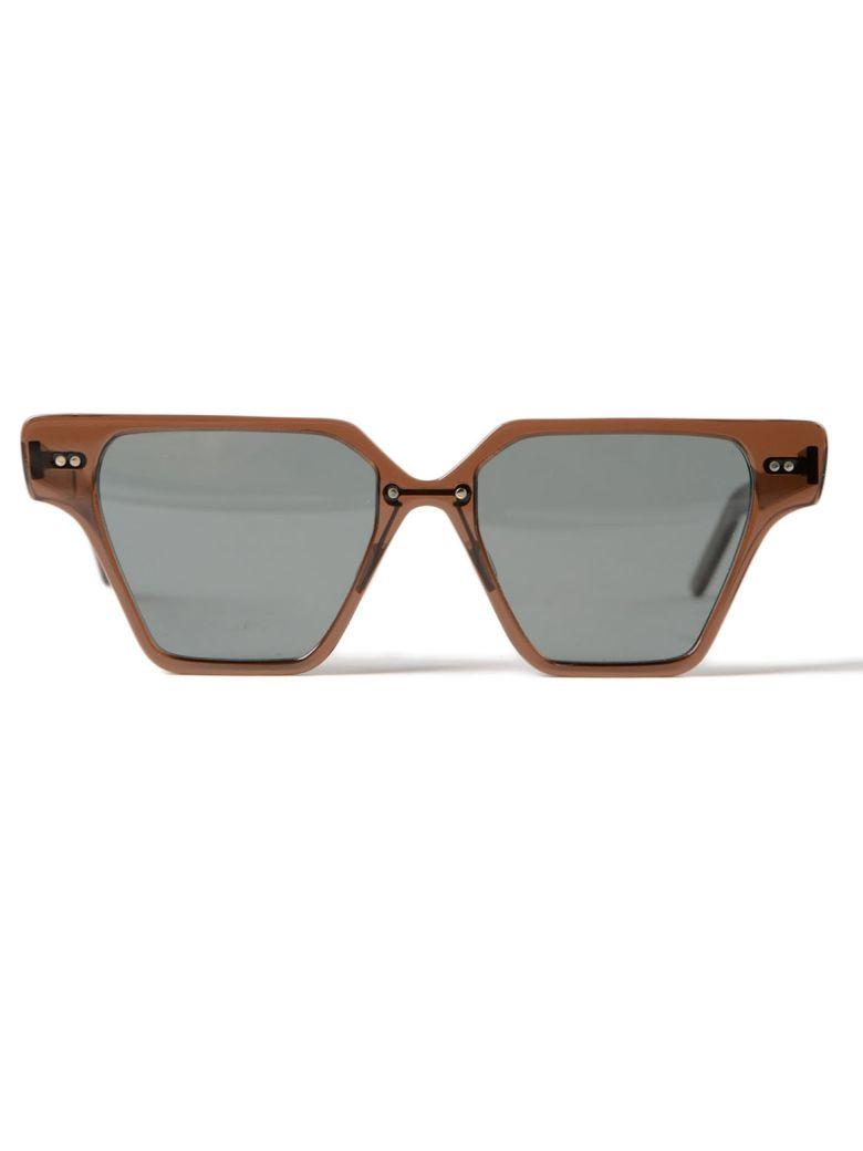 DELIRIOUS Square Frame Sunglasses in Caramel