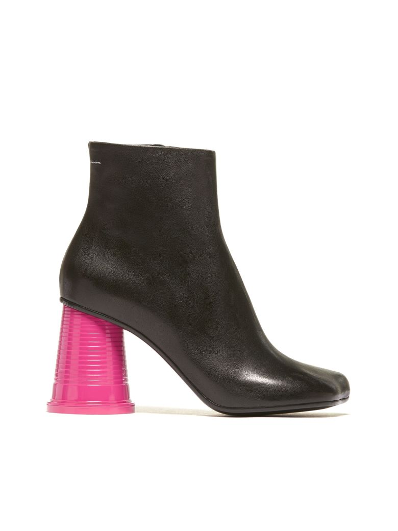 Ankle Boots With Plastic Cup Shaped Heel in Multicolour