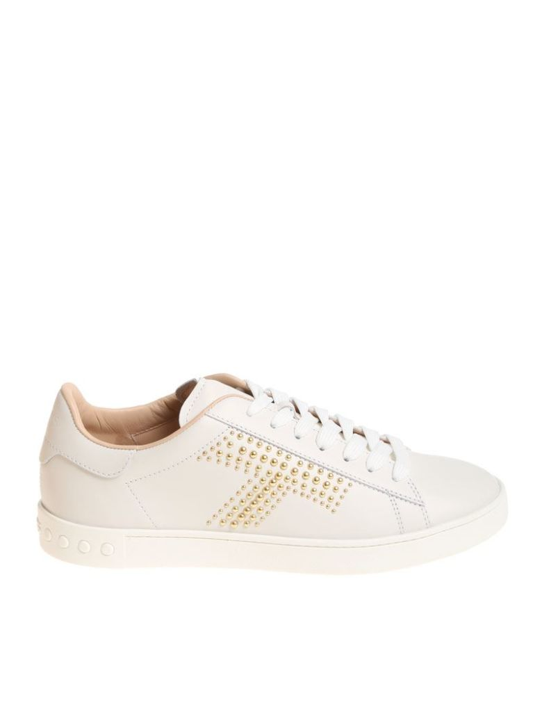 STUDDED LOGO SNEAKERS