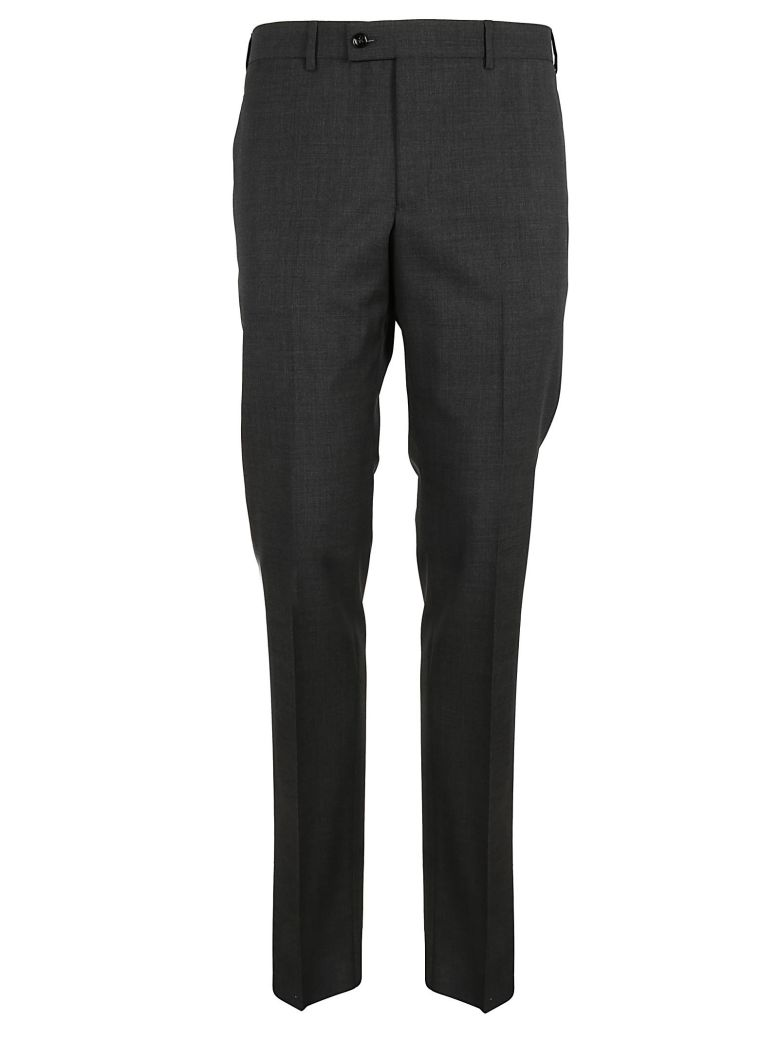 MASSIMO PIOMBO Slim Fit Pants in Mid Grey