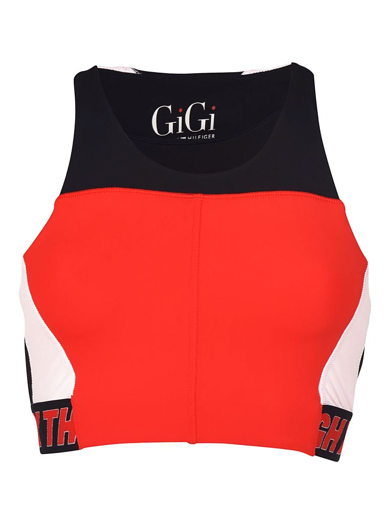 TOMMYXGIGI Speed Cropped Top in Red/Blue
