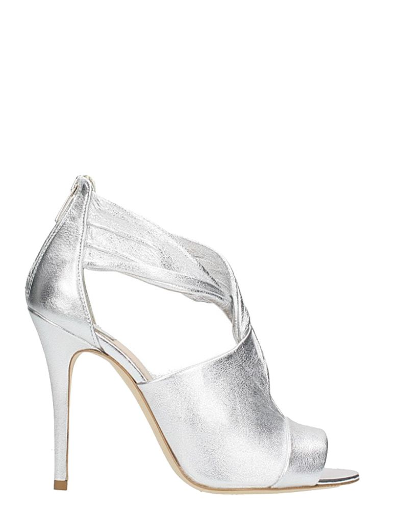KNOT METAL SILVER SANDALS