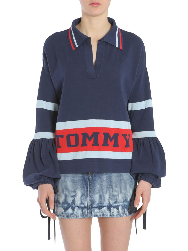Hilfiger Collection Striped Flare Sweater, Blu