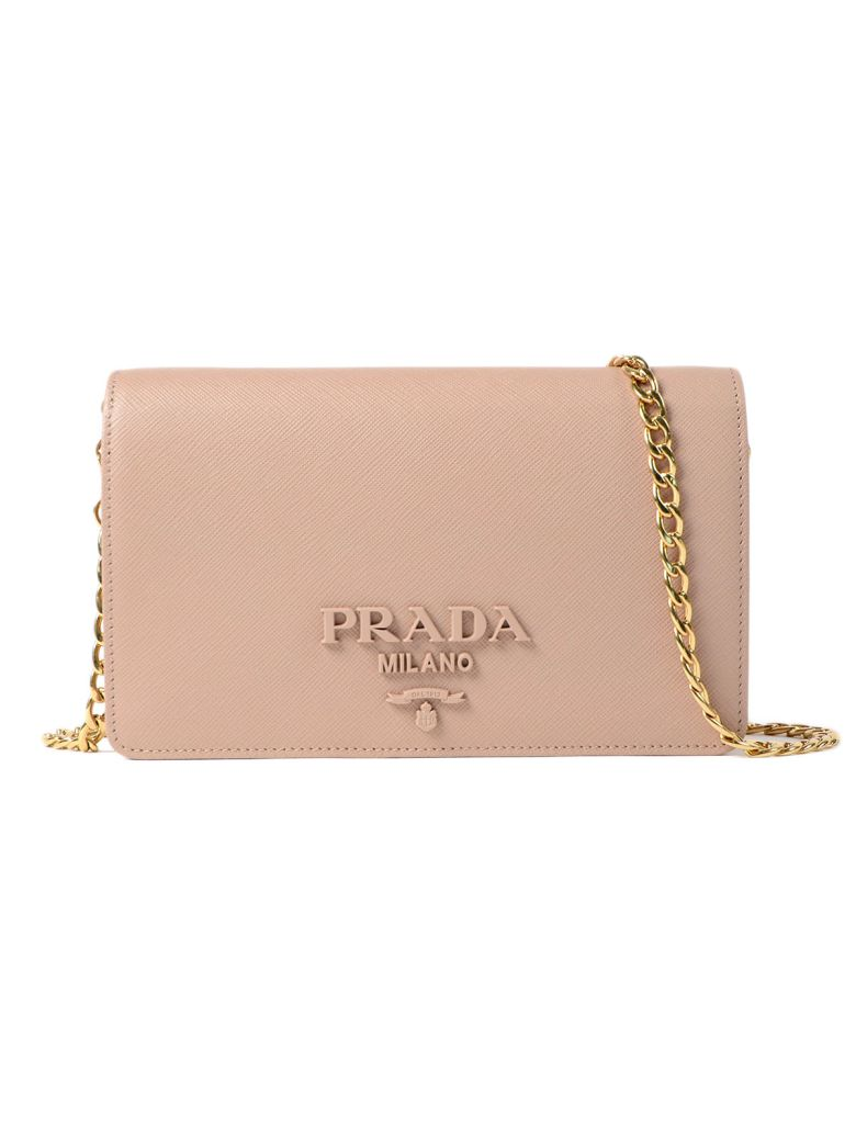 Prada Saffiano Lux Shoulder Bag In Pink   Purple  671a4ef52e382