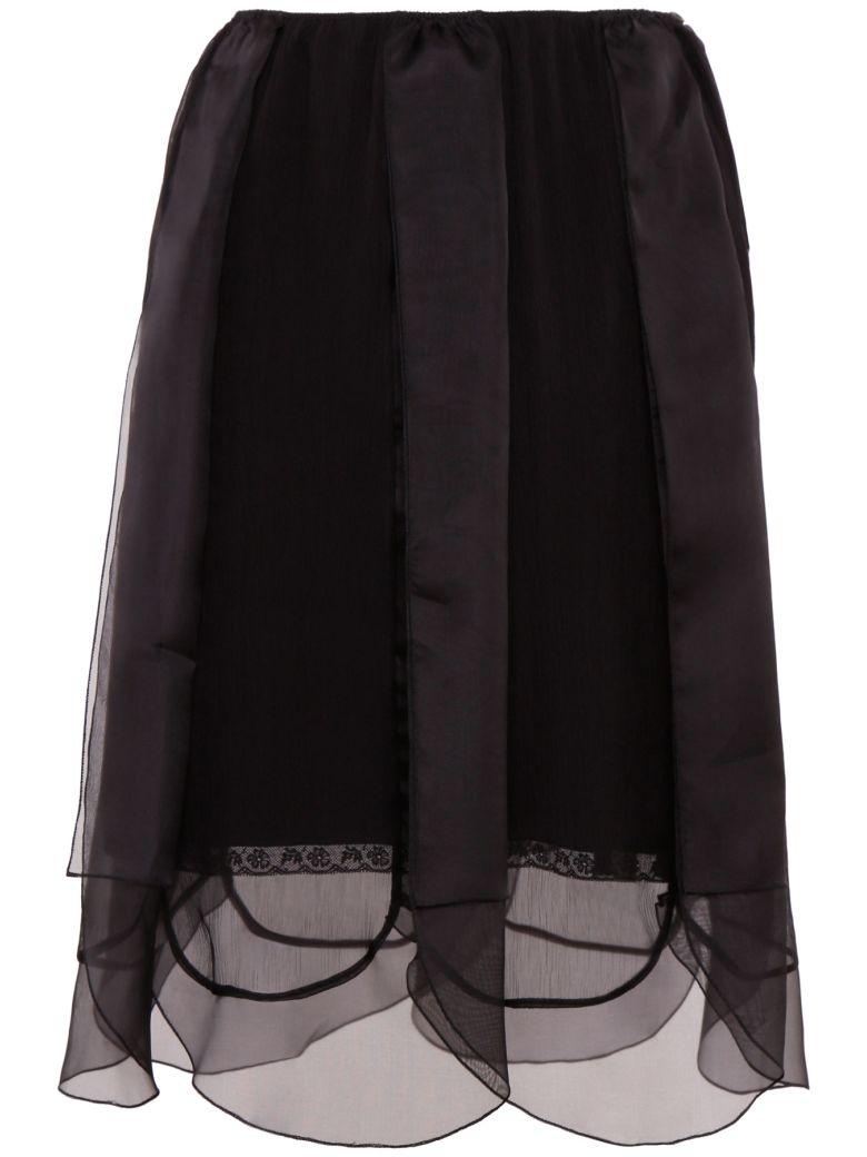 Prada Chiffon Skirt With Organza - NERO+NERO|Nero