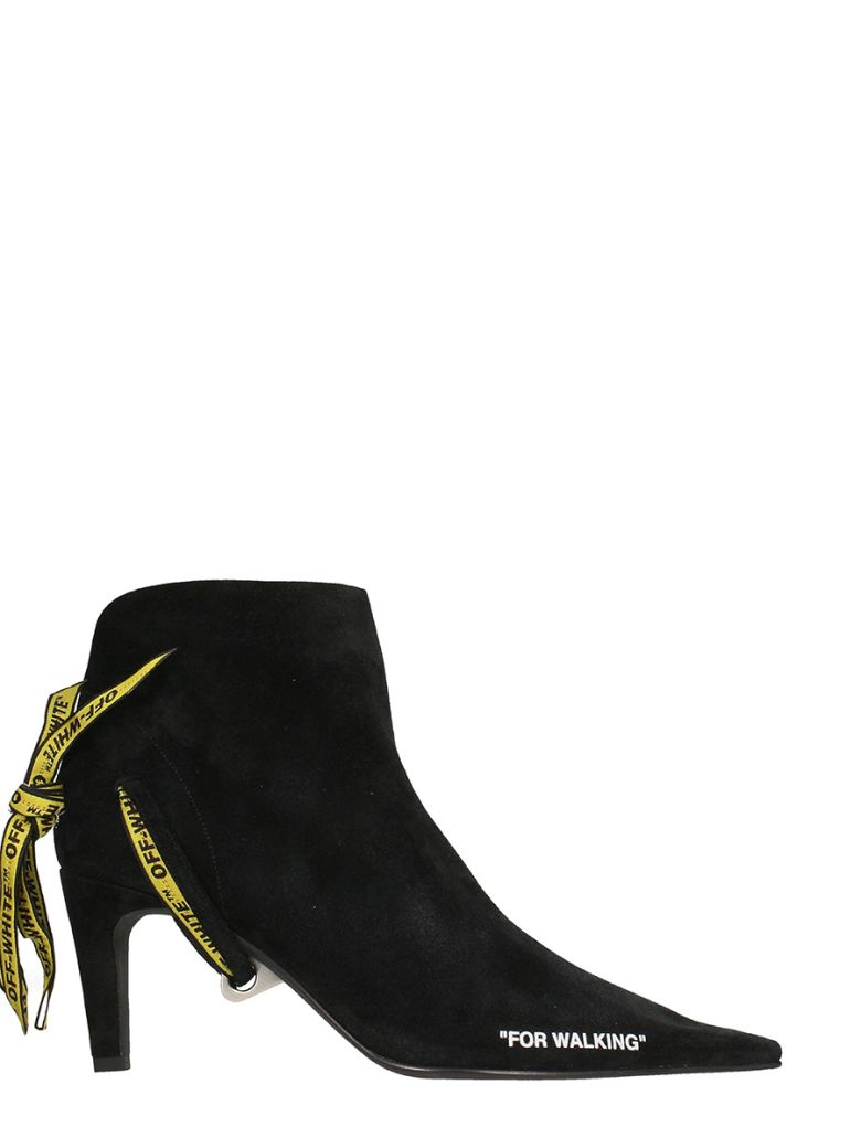 BLACK SUEDE FOR WALKING ANKLE BOOTS