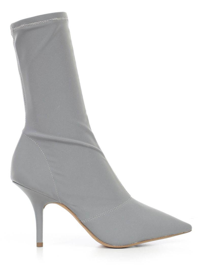 Opening Ceremony Stretch Satin Ankle Boot, Chrome