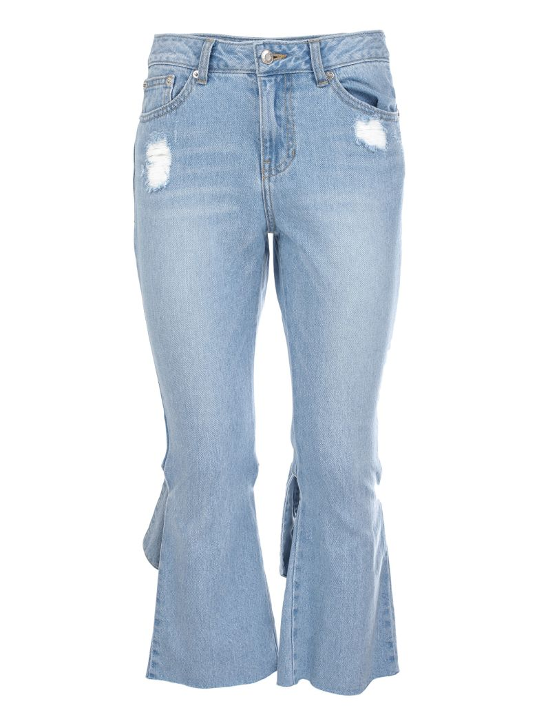 cropped kick flare jeans - Blue Sjyp ek19mimV