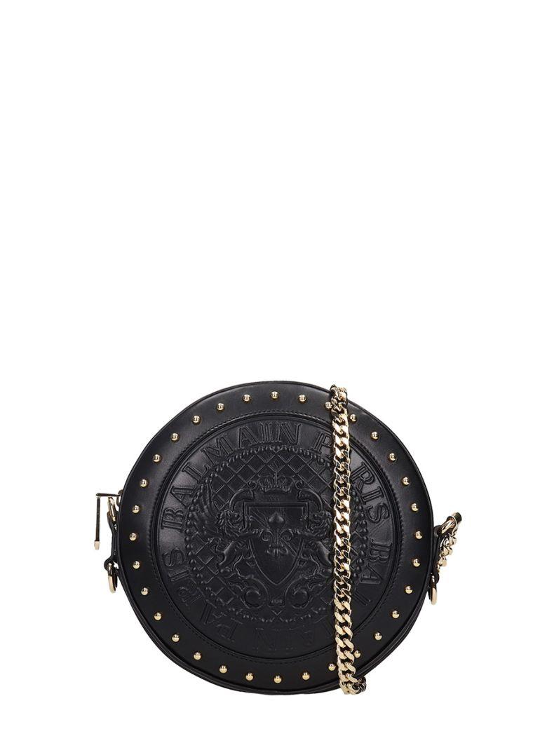 Disco Leather Shoulder Bag in Black