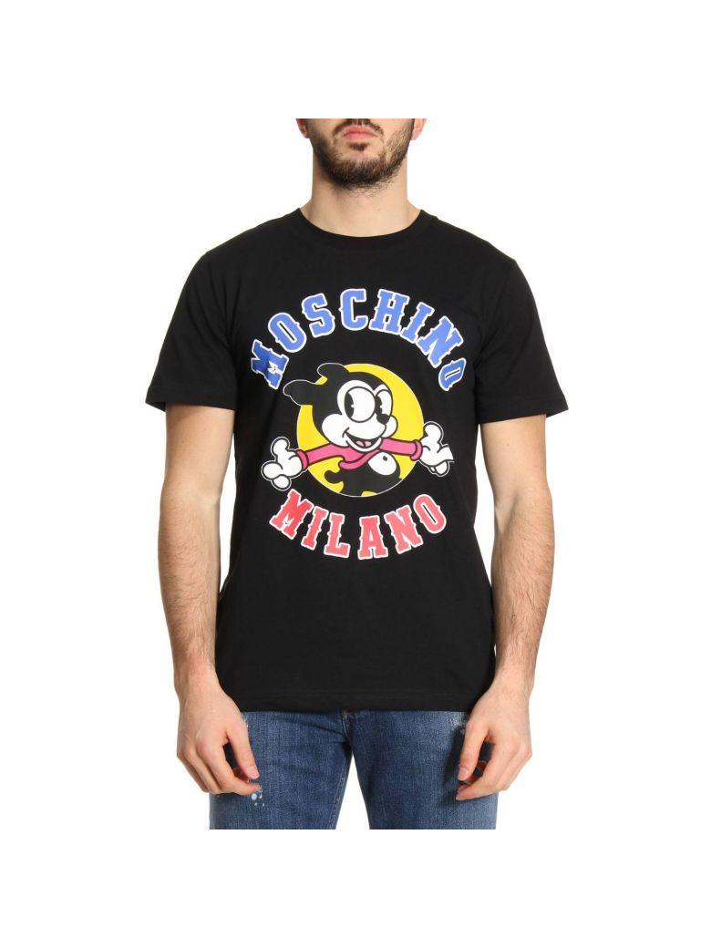 Cartoon Print T-Shirt in A1555 Black