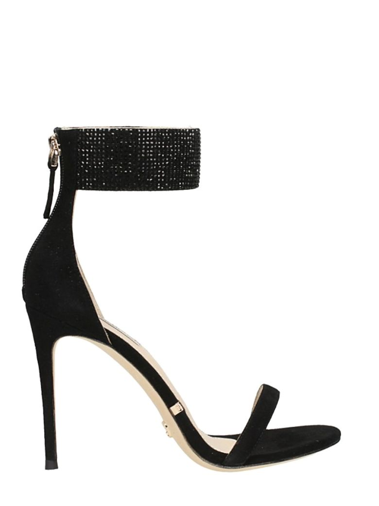 GIANNI RENZI STRASS ANKLE STRAP SANDALS
