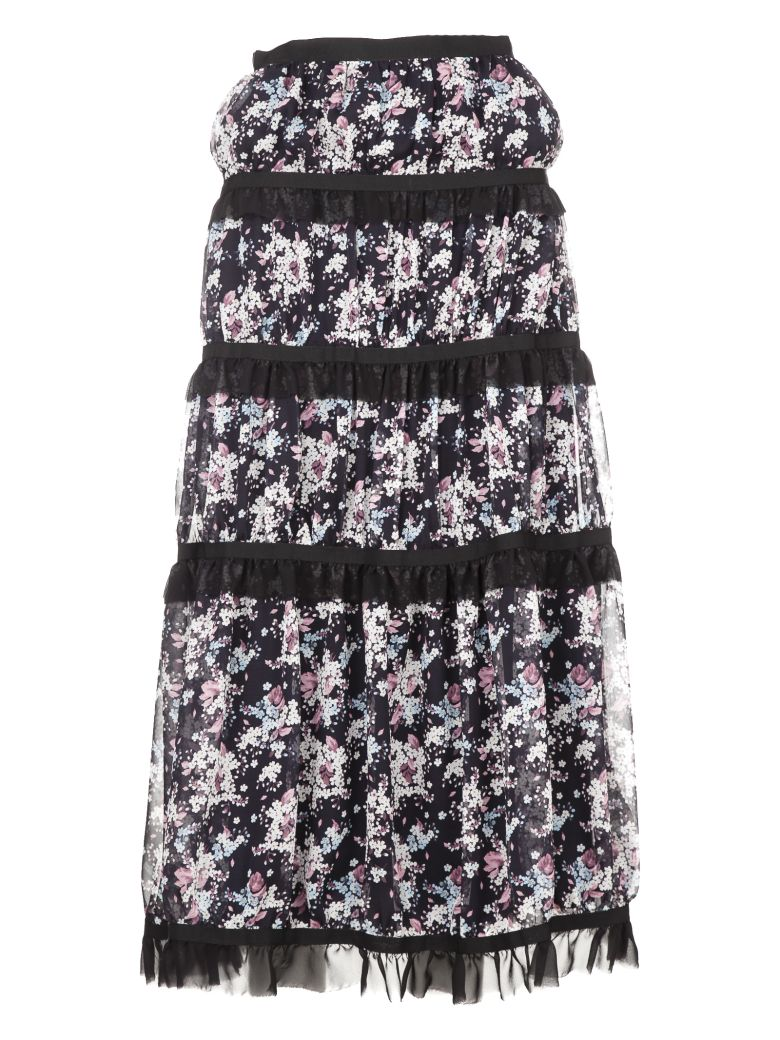 GIUSEPPE DI MORABITO TIERED FLORAL SKIRT