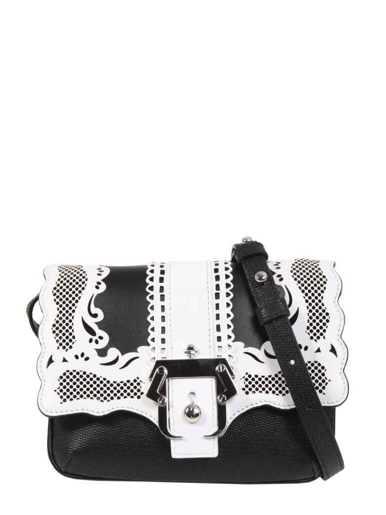 PAULA CADEMARTORI Igi Lady Lace Small Crossbody Bag in Black